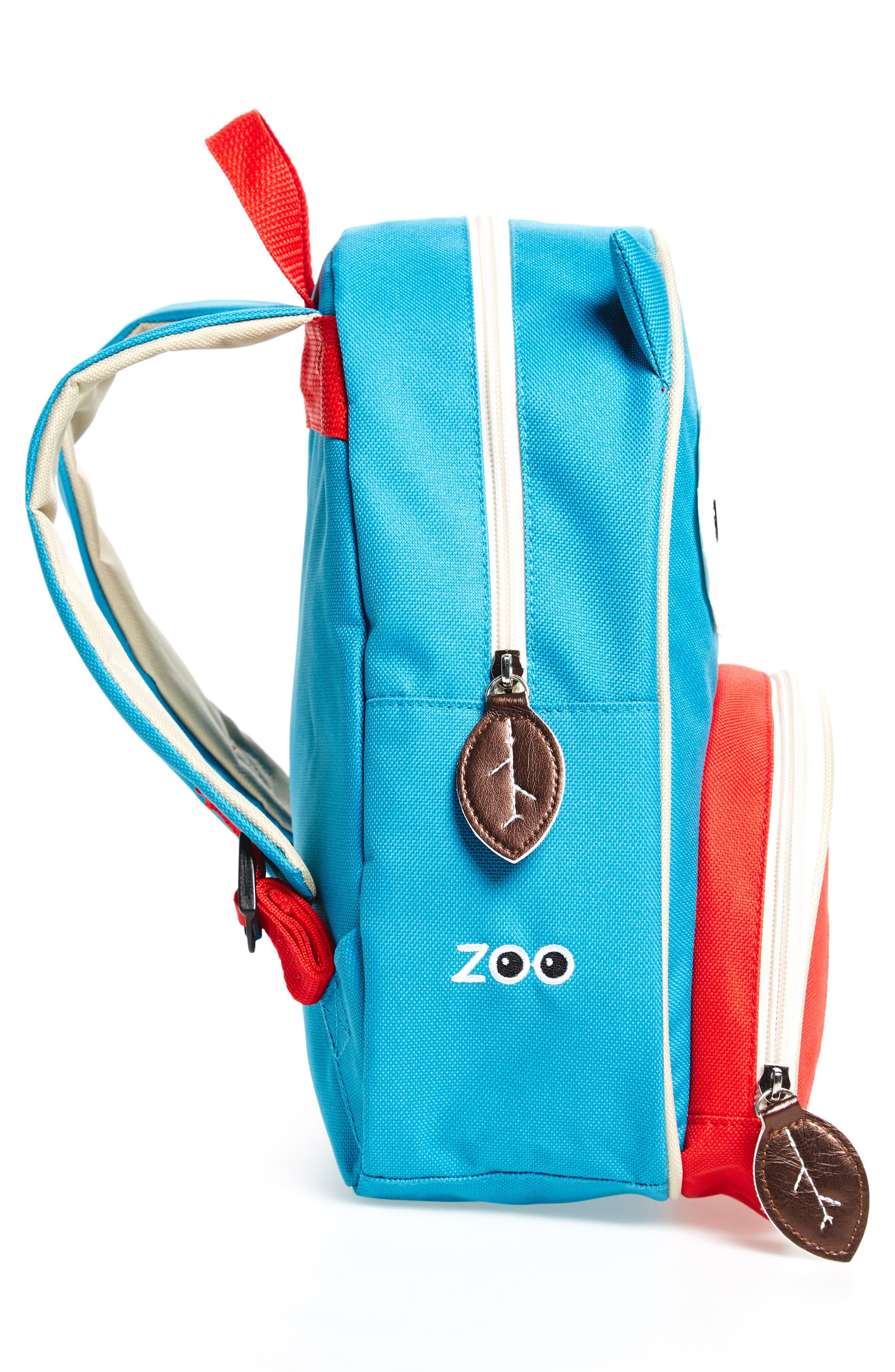 SKIP HOP, Owl Zoo Pack Backpack, Alternate thumbnail 4, color, BLUE MULTI
