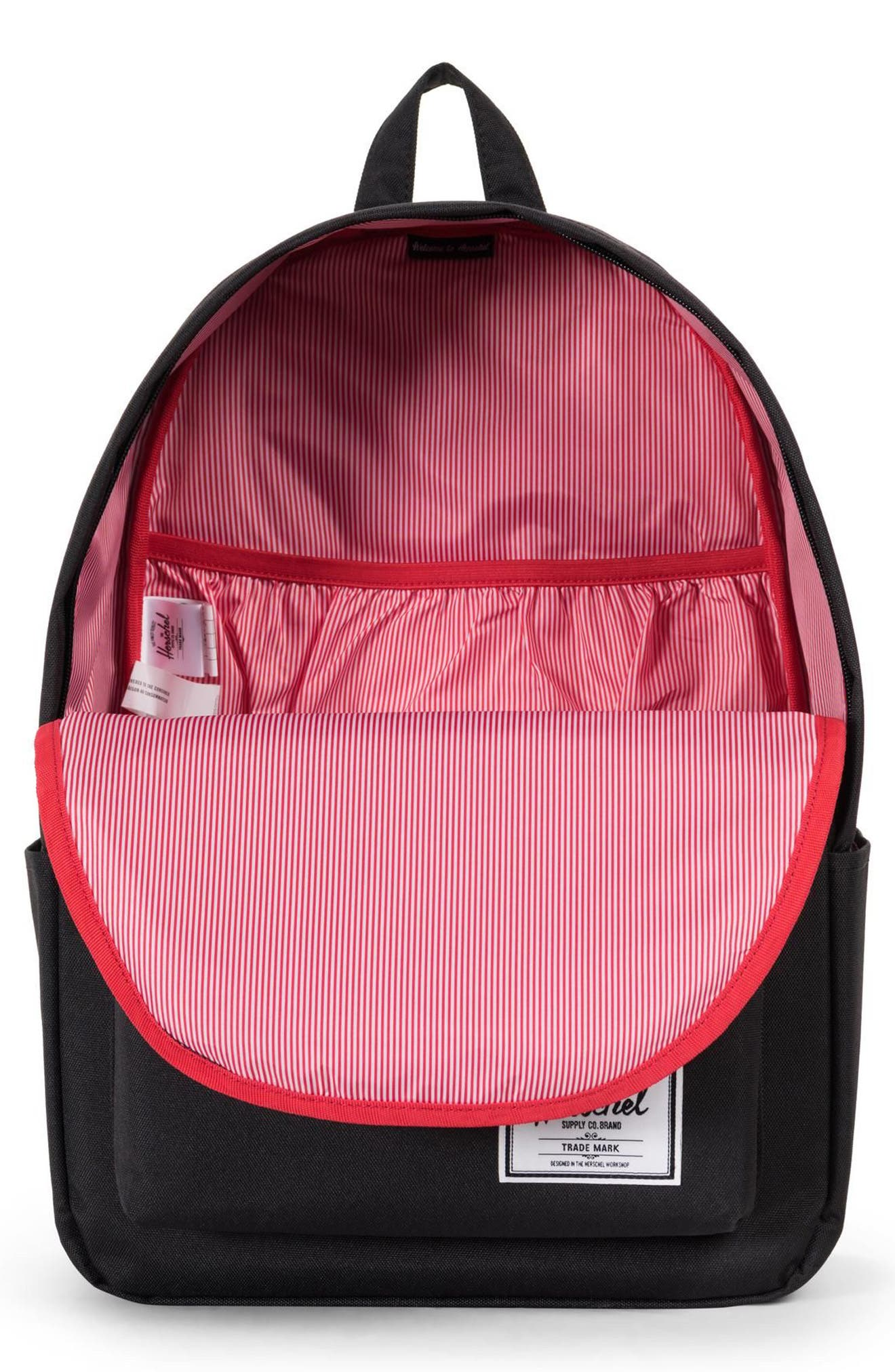 HERSCHEL SUPPLY CO., Classic XL Backpack, Alternate thumbnail 4, color, BLACK