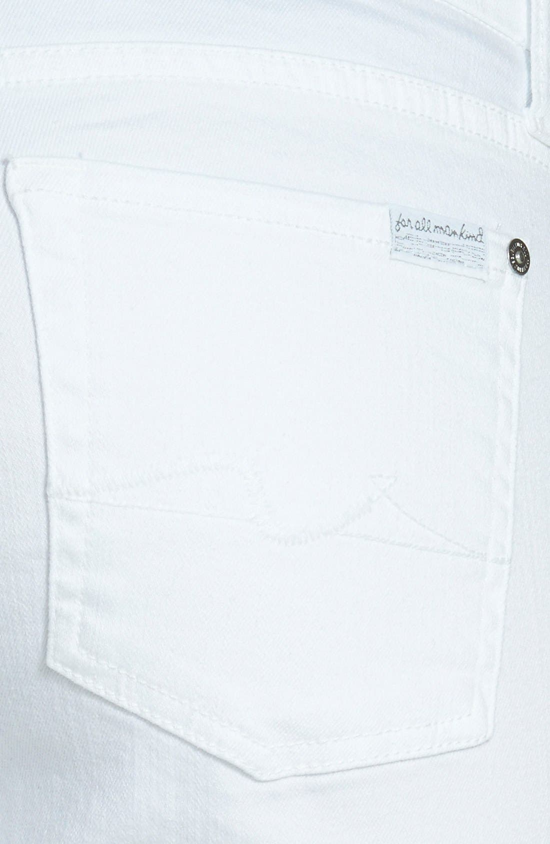 7 FOR ALL MANKIND<SUP>®</SUP>, 'Kimmie' Crop Skinny Jeans, Alternate thumbnail 3, color, CLEAN WHITE