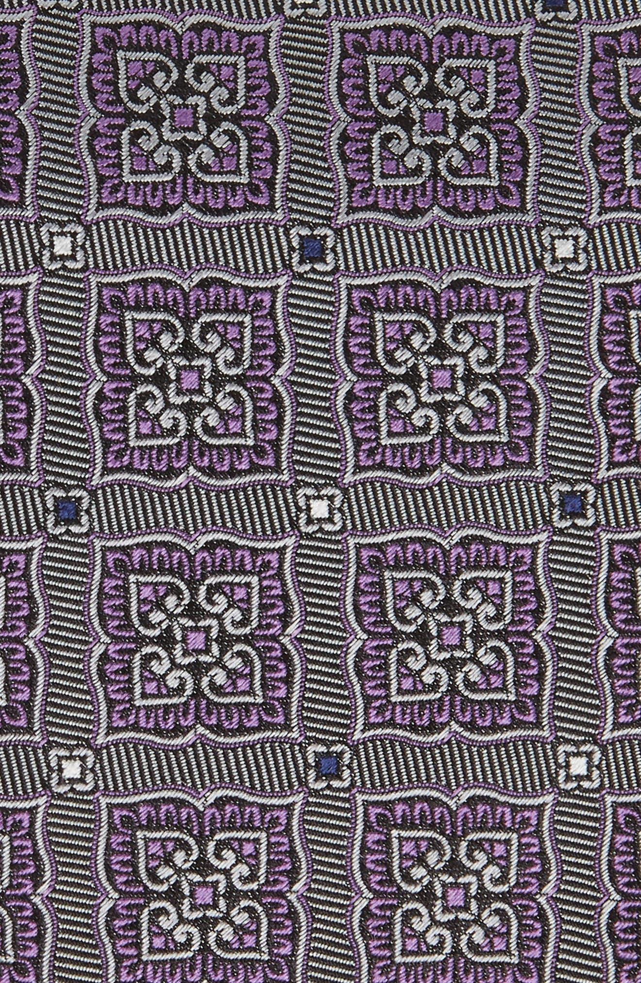 CANALI, Medallion Silk Tie, Alternate thumbnail 2, color, 020