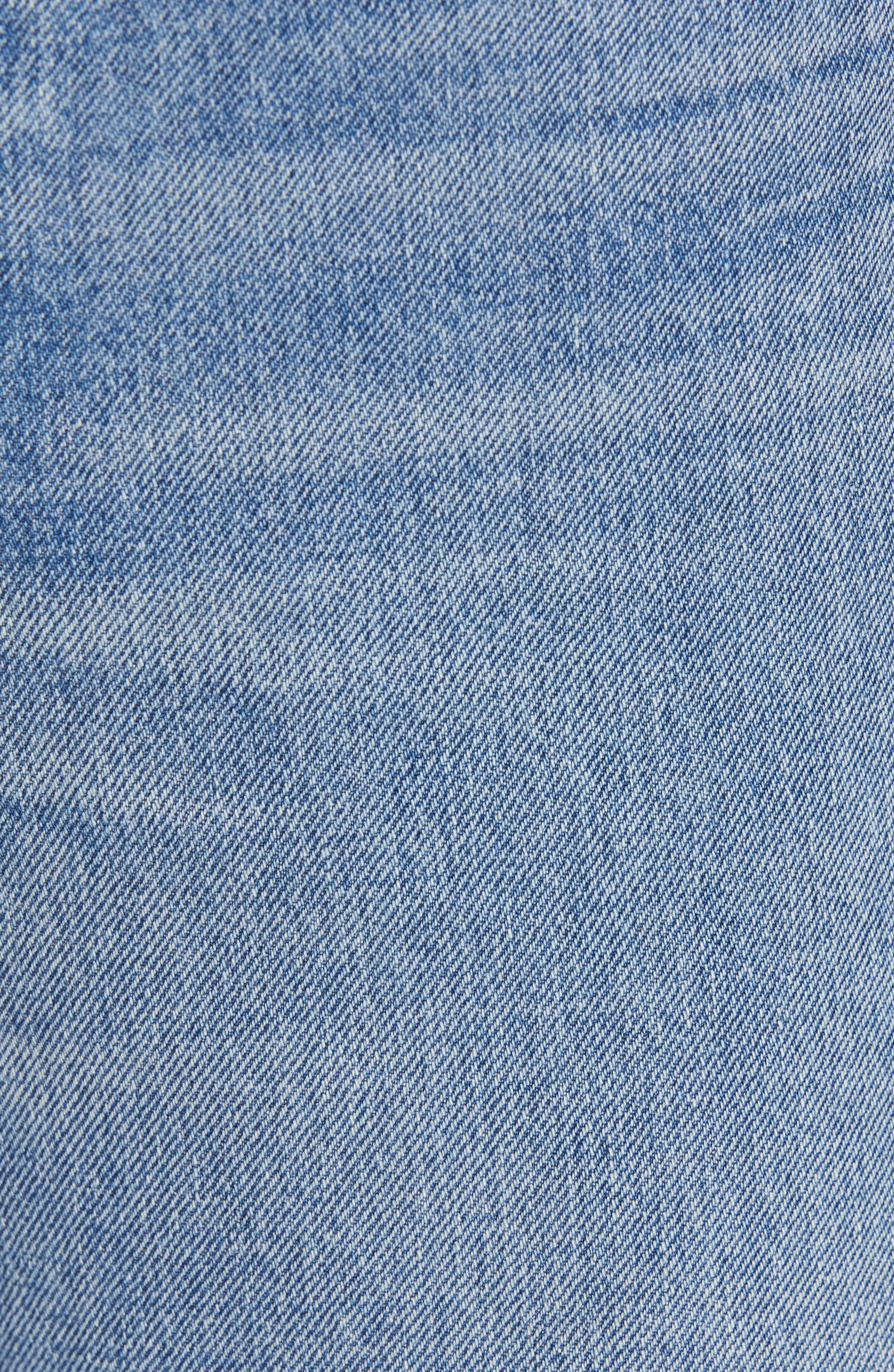 RAG & BONE, Ruth Super High Waist Straight Leg Jeans, Alternate thumbnail 5, color, BABY