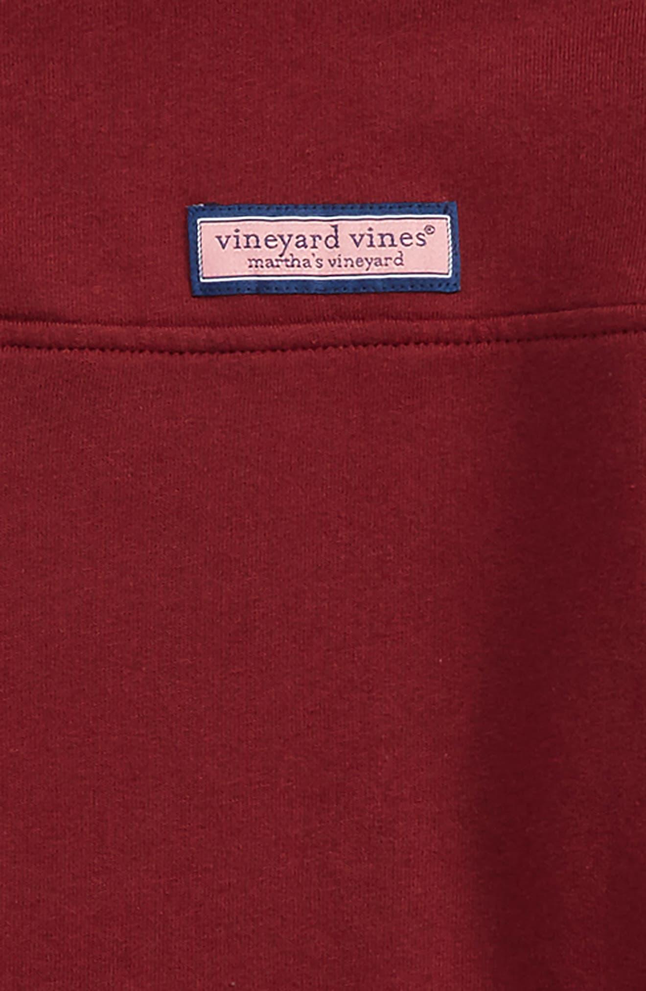 VINEYARD VINES, Classic Shep Quarter Zip Pullover, Alternate thumbnail 2, color, CRIMSON
