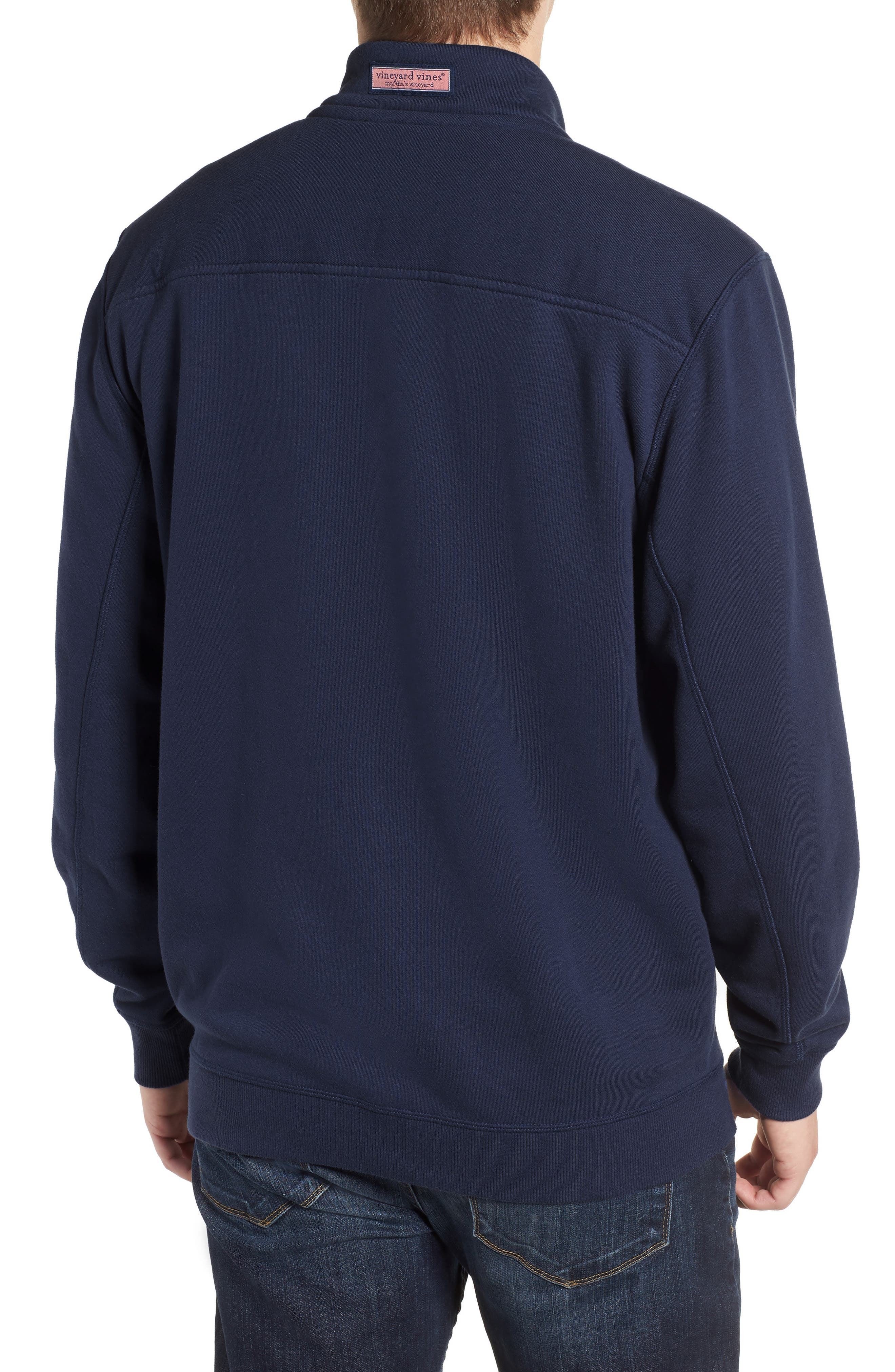 VINEYARD VINES, Collegiate Half Zip Pullover, Alternate thumbnail 2, color, VINEYARD NAVY