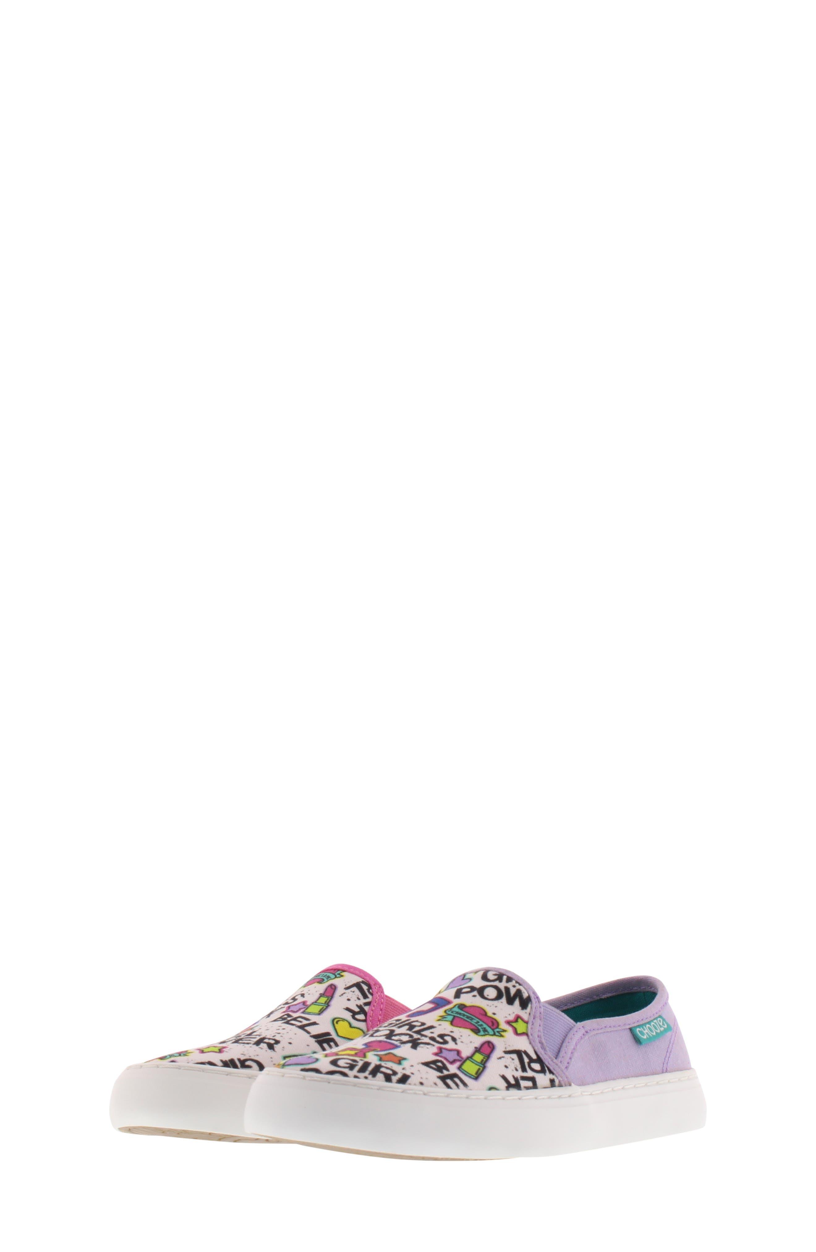 CHOOZE, Move Motion Slip-On Sneaker, Alternate thumbnail 8, color, PINK LAVENDER