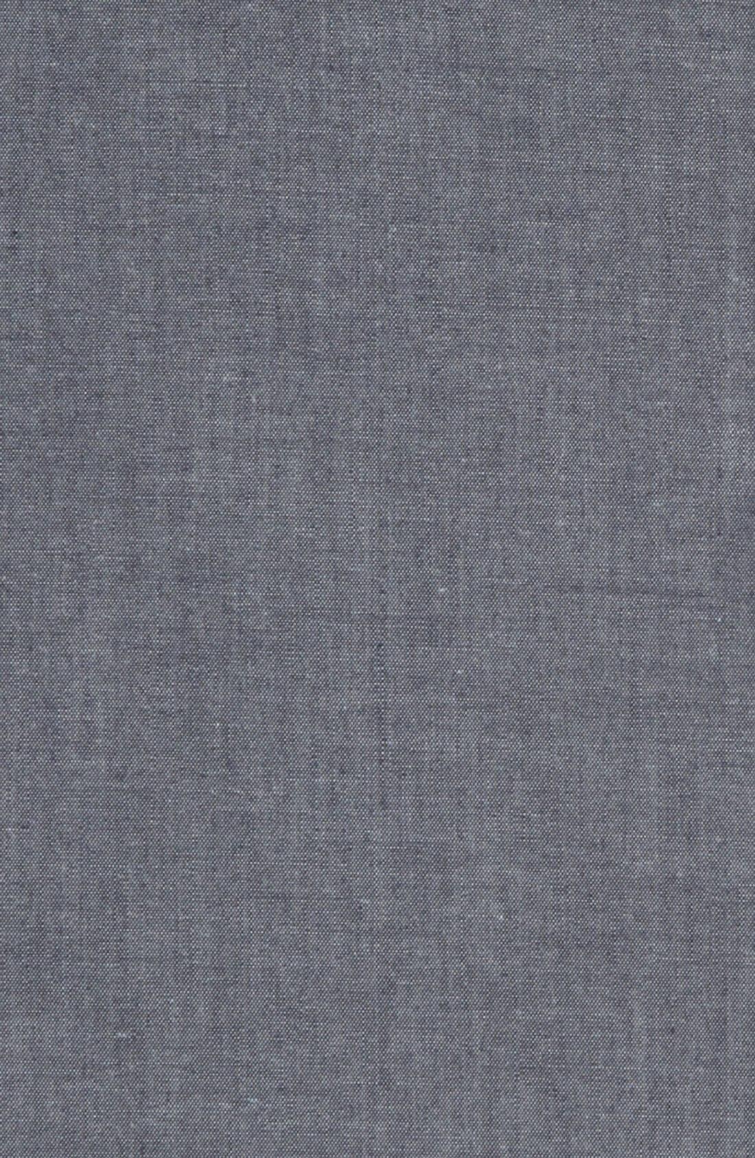 1901, Chambray Pocket Square, Alternate thumbnail 3, color, 420