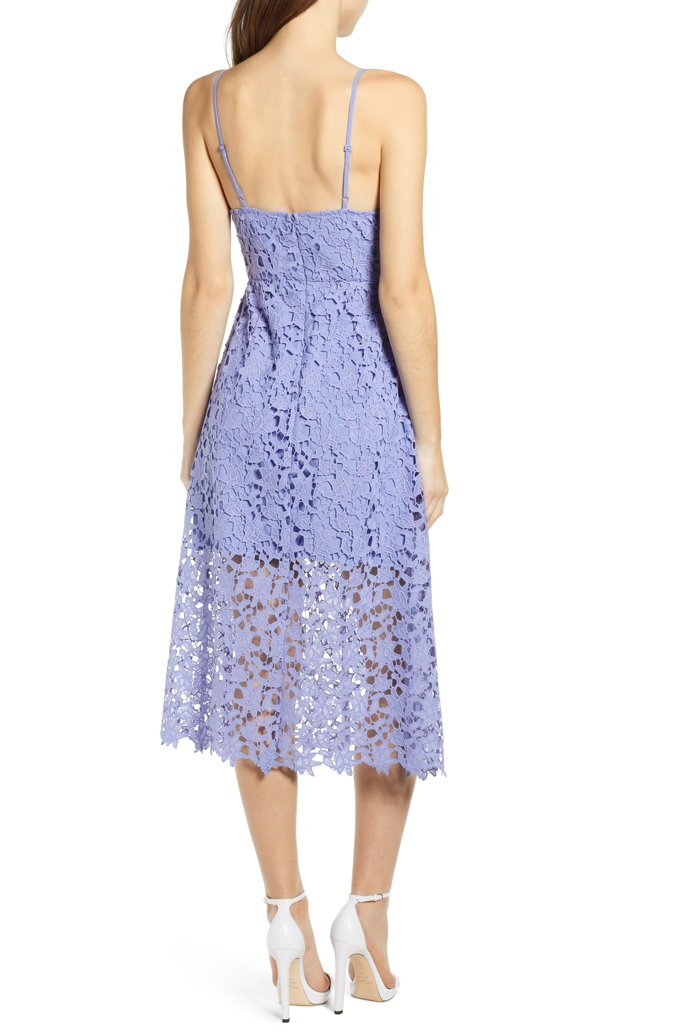 ASTR THE LABEL, Lace Midi Dress, Alternate thumbnail 2, color, LAVENDER