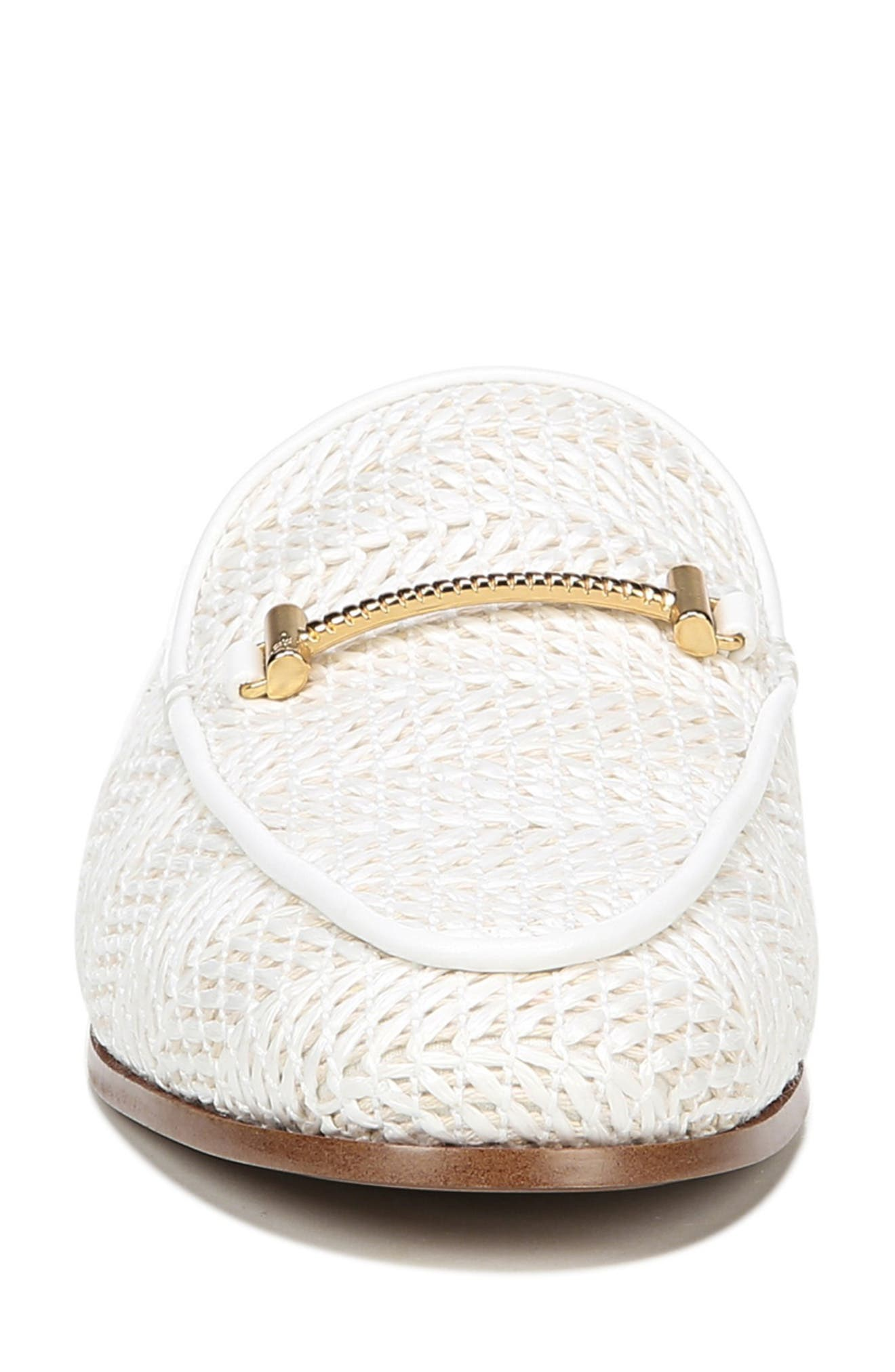 SAM EDELMAN, Laurna Mule, Alternate thumbnail 3, color, WHITE WOVEN
