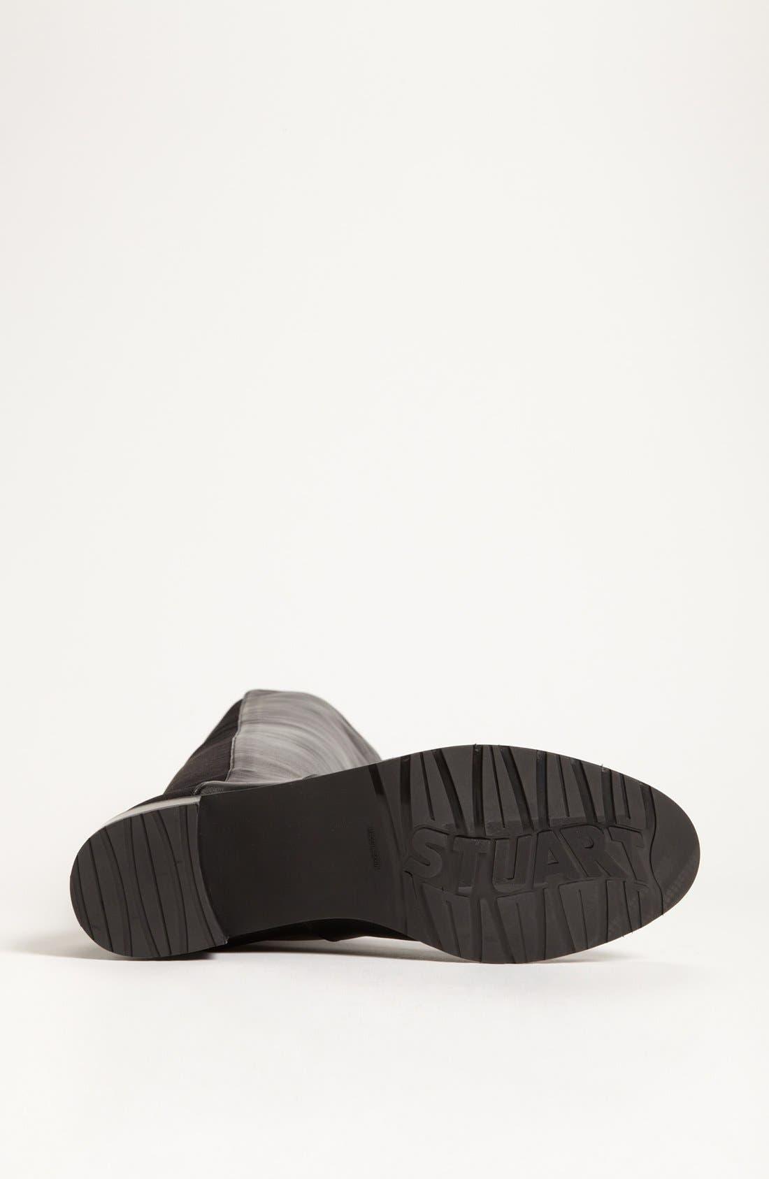STUART WEITZMAN, 'Reserve' Over the Knee Boot, Alternate thumbnail 9, color, BLACK NAPPA