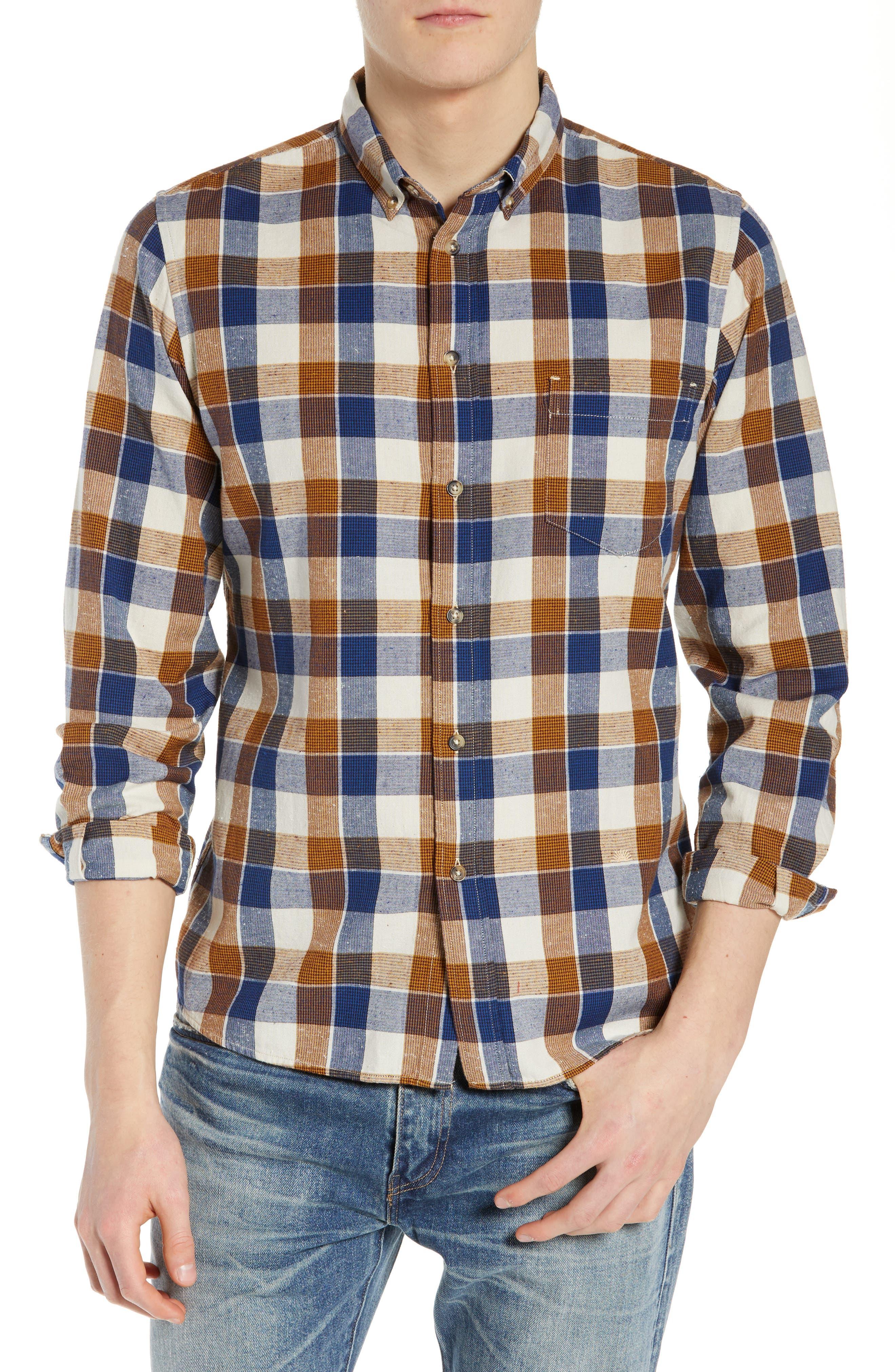 LEVI'S<SUP>®</SUP> MADE & CRAFTED<SUP>™</SUP> Standard Plaid Sport Shirt, Main, color, LEON PLAID MULTI