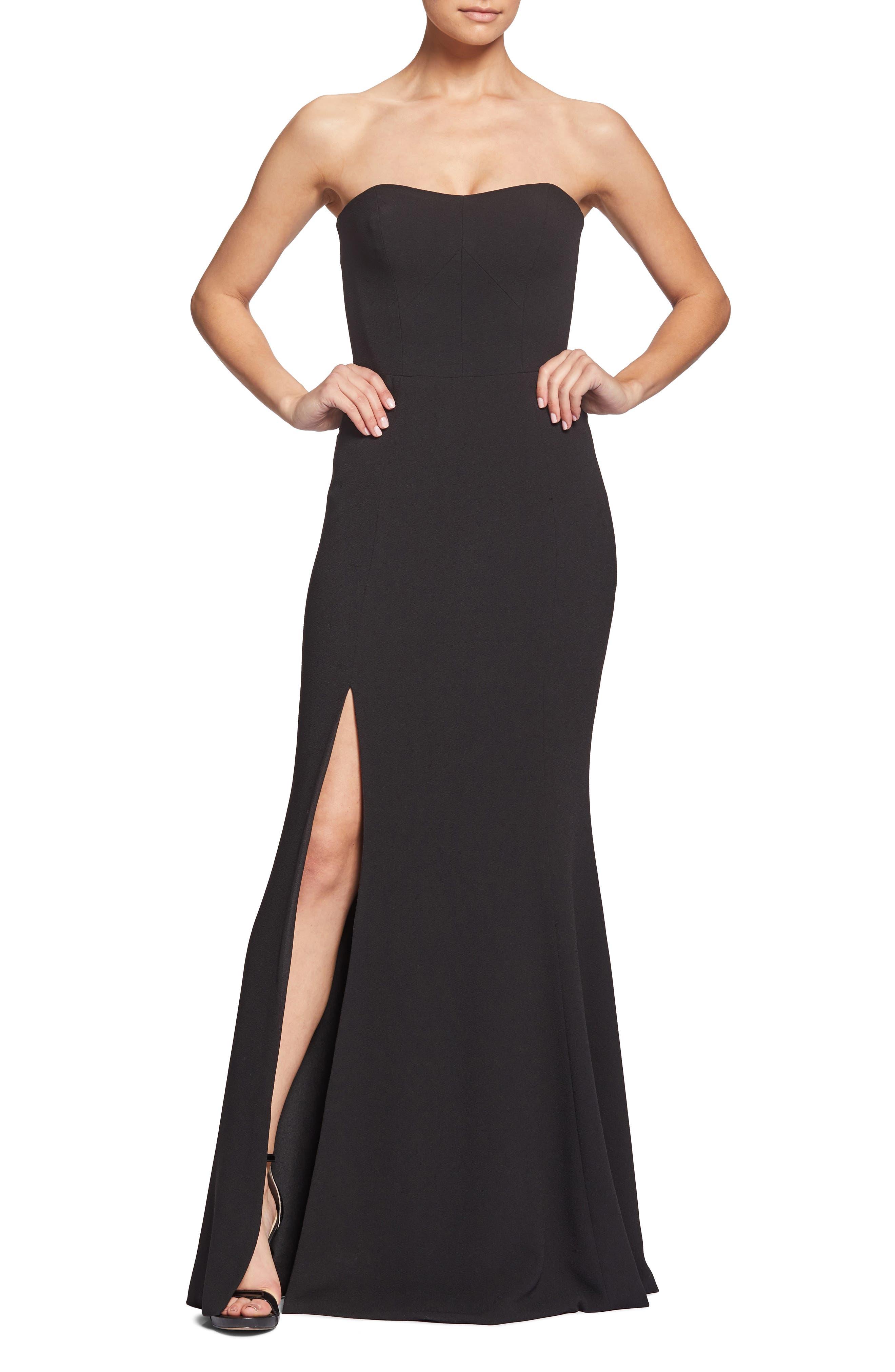 Dress The Population Ellen Strapless Gown, Black