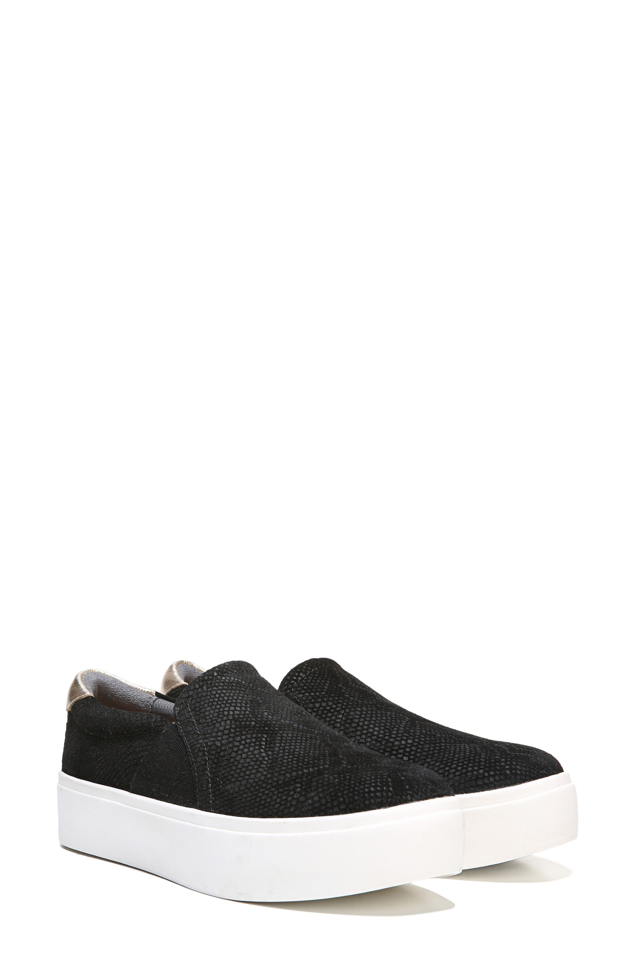 DR. SCHOLL'S, Abbot Slip-On Sneaker, Alternate thumbnail 7, color, BLACK SUEDE