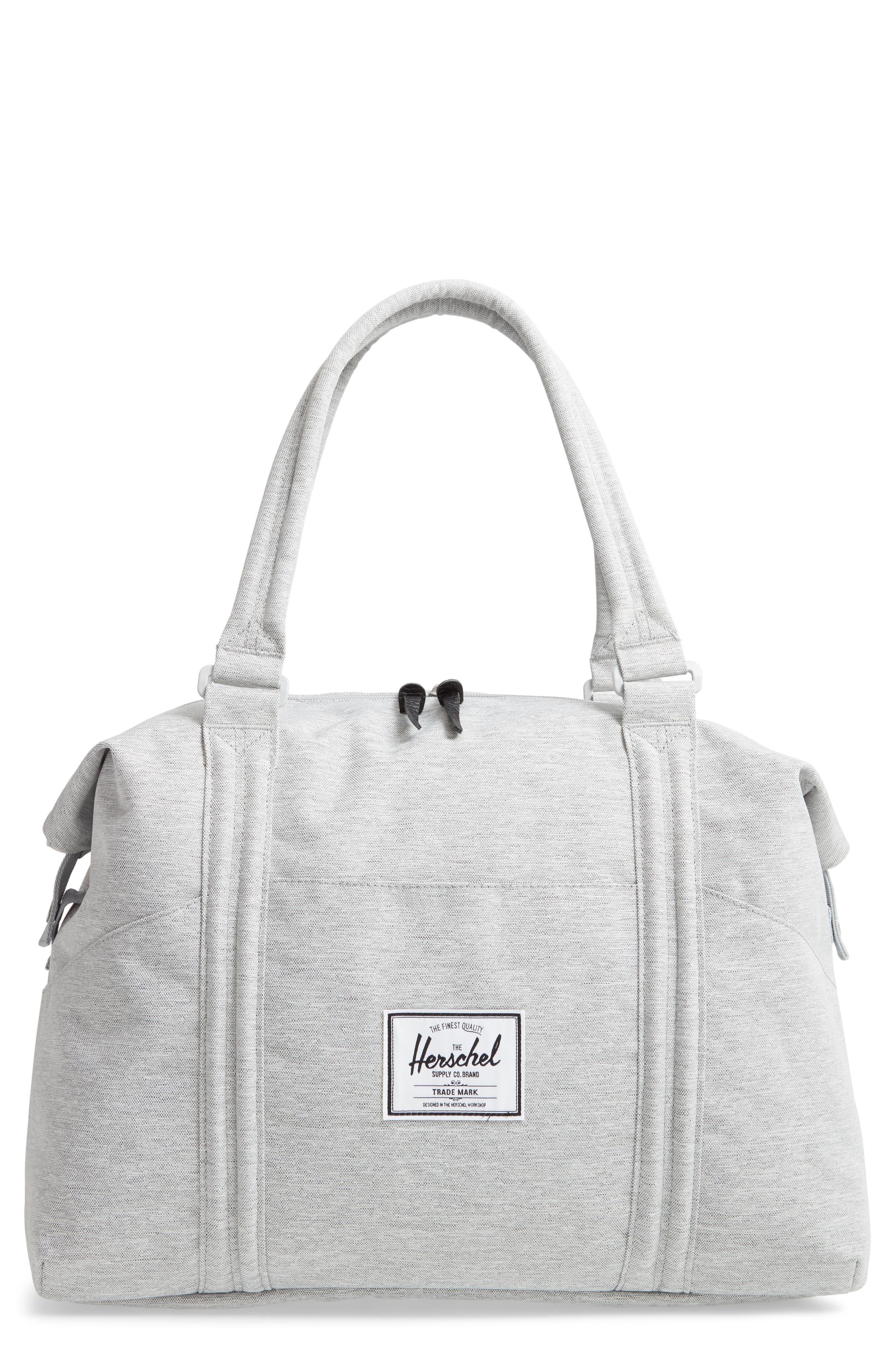 HERSCHEL SUPPLY CO. Strand Duffel Bag, Main, color, LIGHT GREY CROSSHATCH