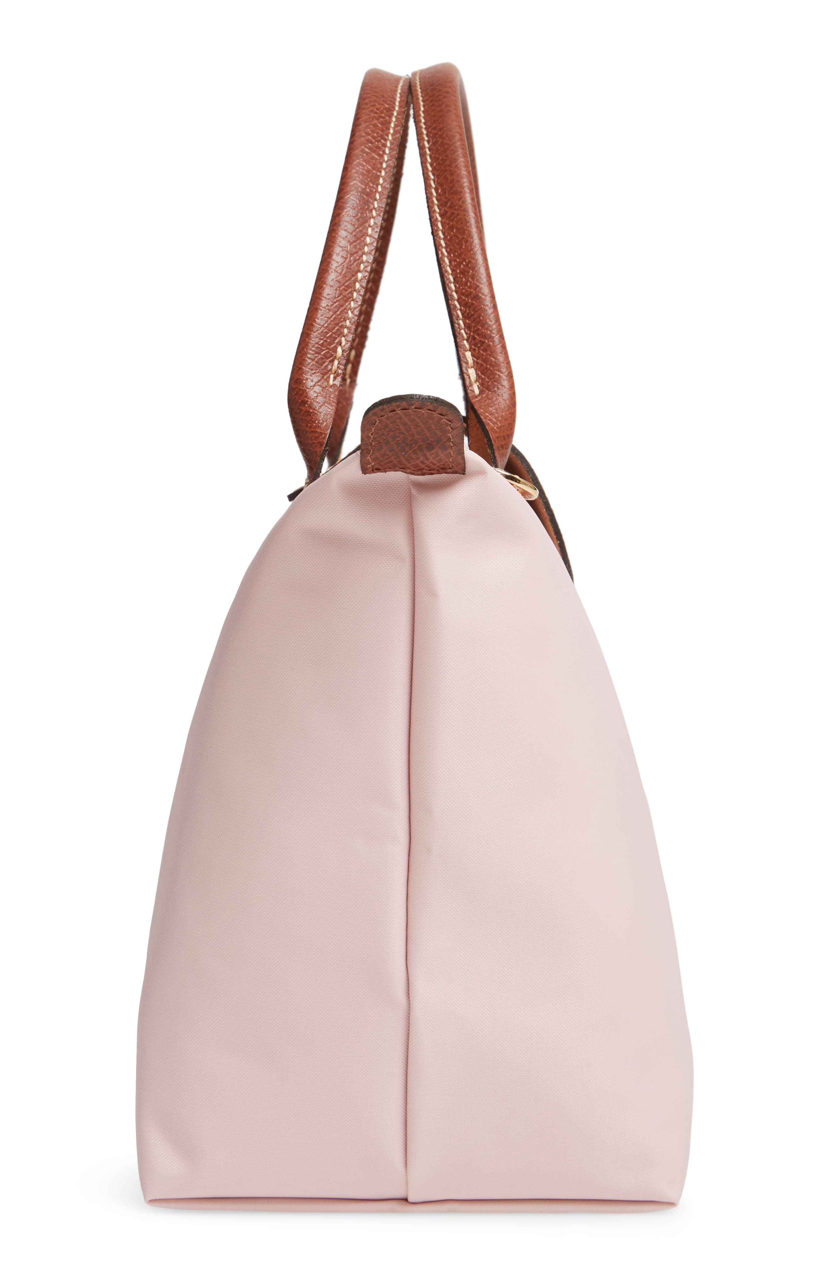 LONGCHAMP, 'Small Le Pliage' Top Handle Tote, Alternate thumbnail 5, color, PINK ICE