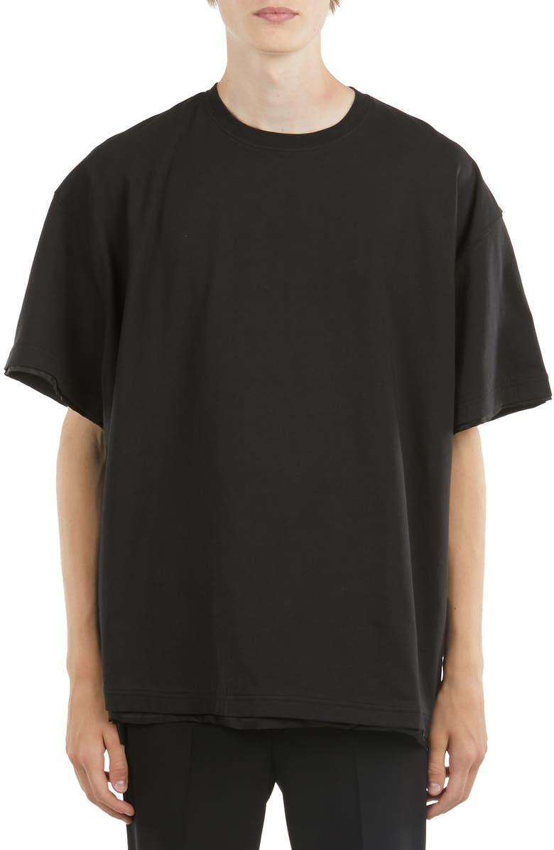 Raf Simons T-shirts LINED T-SHIRT