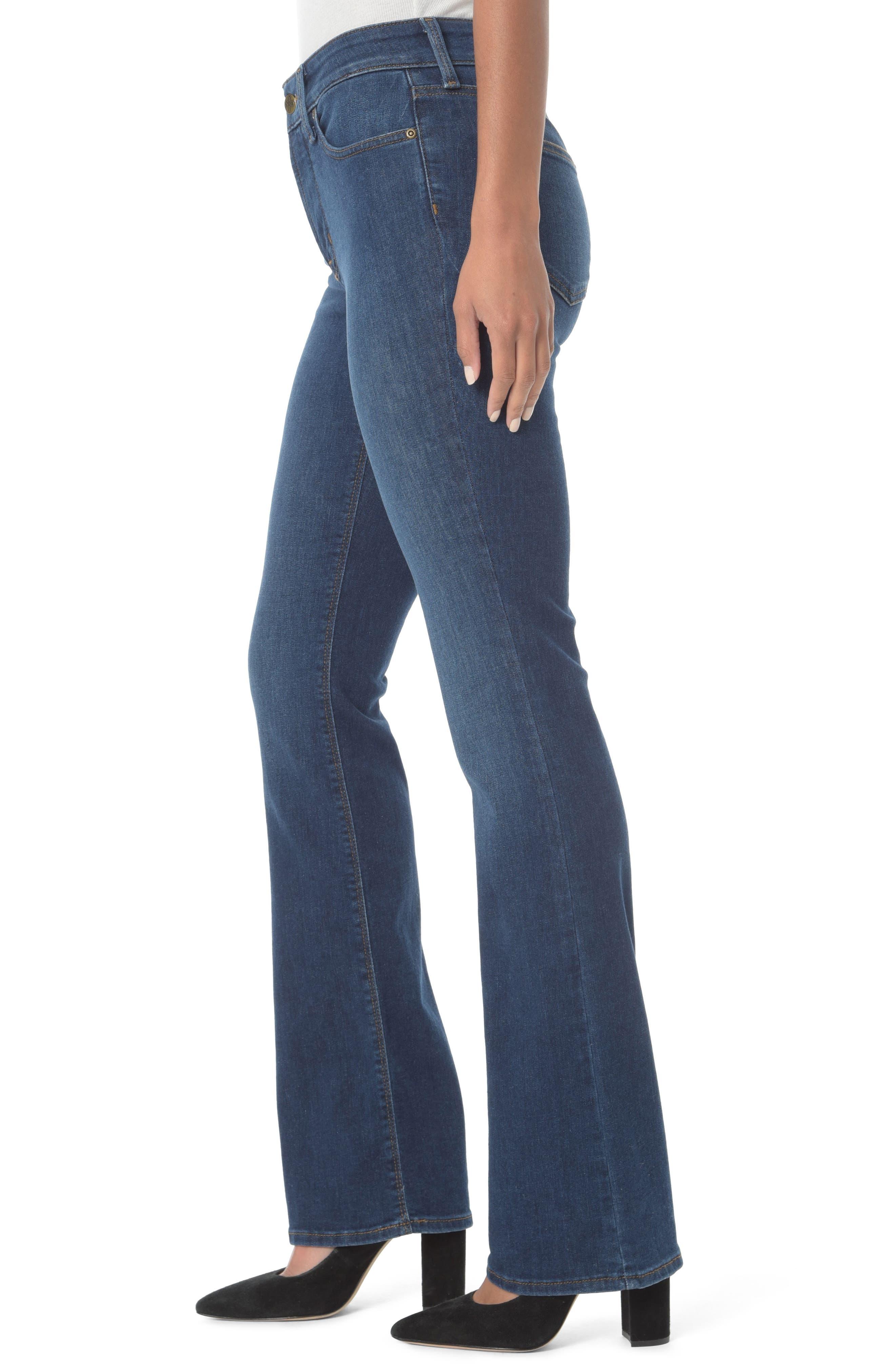 NYDJ, Barbara High Waist Stretch Bootcut Jeans, Alternate thumbnail 4, color, COOPER