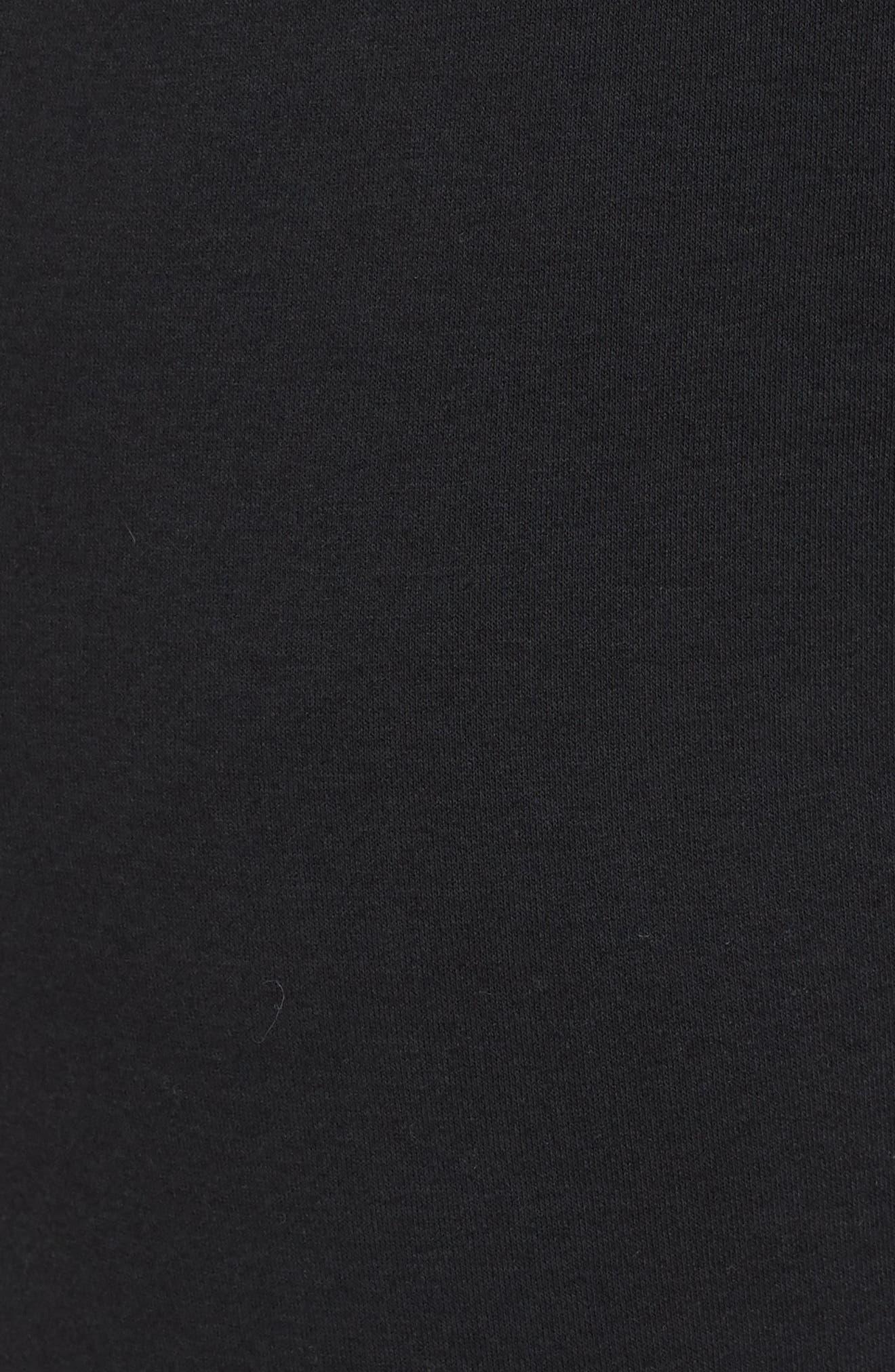 NIKE, Sportswear Rally High Rise Jogger Pants, Alternate thumbnail 6, color, BLACK/ BLACK/ WHITE