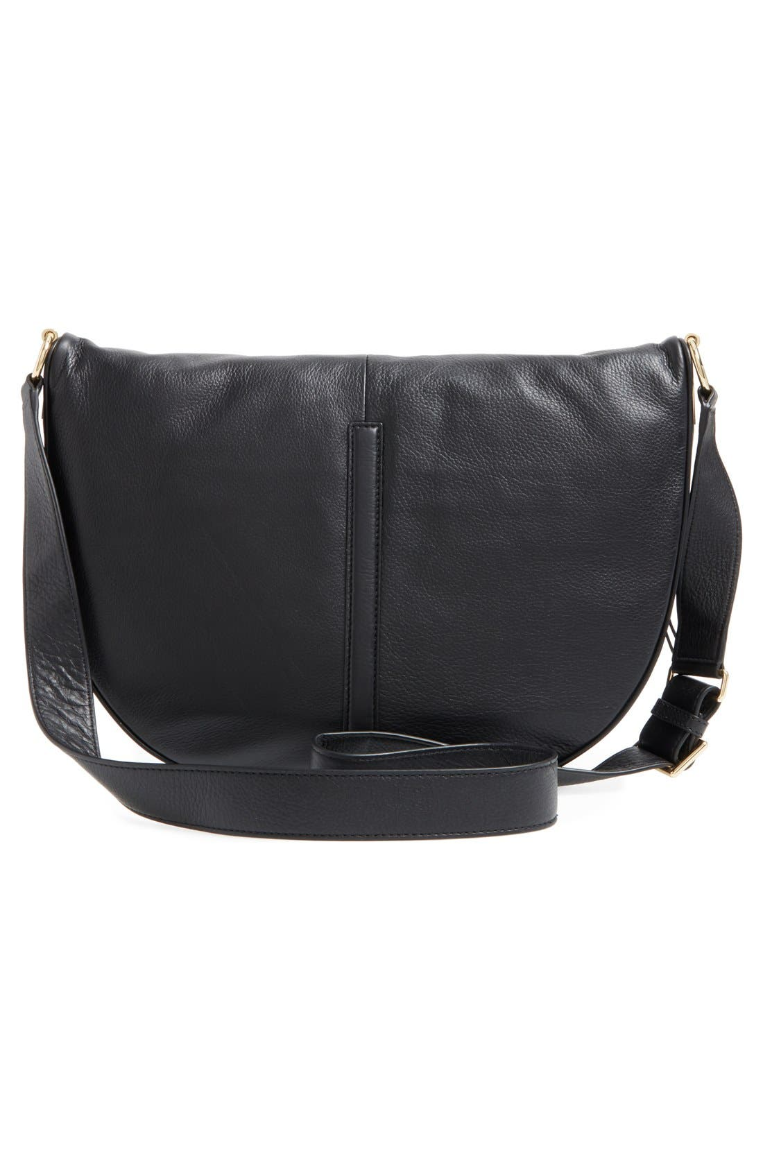 ELIZABETH AND JAMES, 'Scott Moon' Leather Crossbody Bag, Alternate thumbnail 4, color, 001