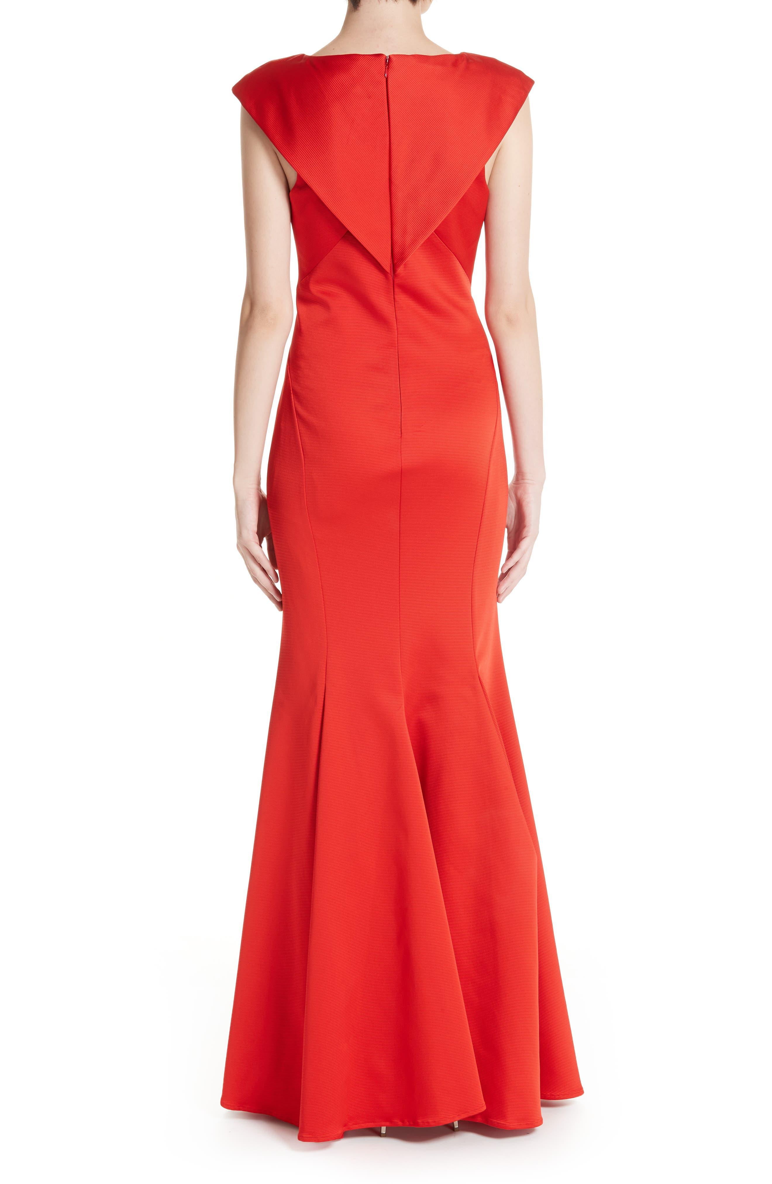 ZAC ZAC POSEN, Nina Trumpet Gown, Alternate thumbnail 2, color, RED