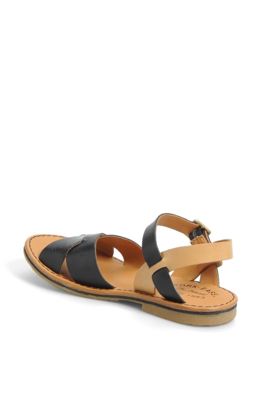 KORK-EASE<SUP>®</SUP>, 'Corine' Sandal, Alternate thumbnail 3, color, 002