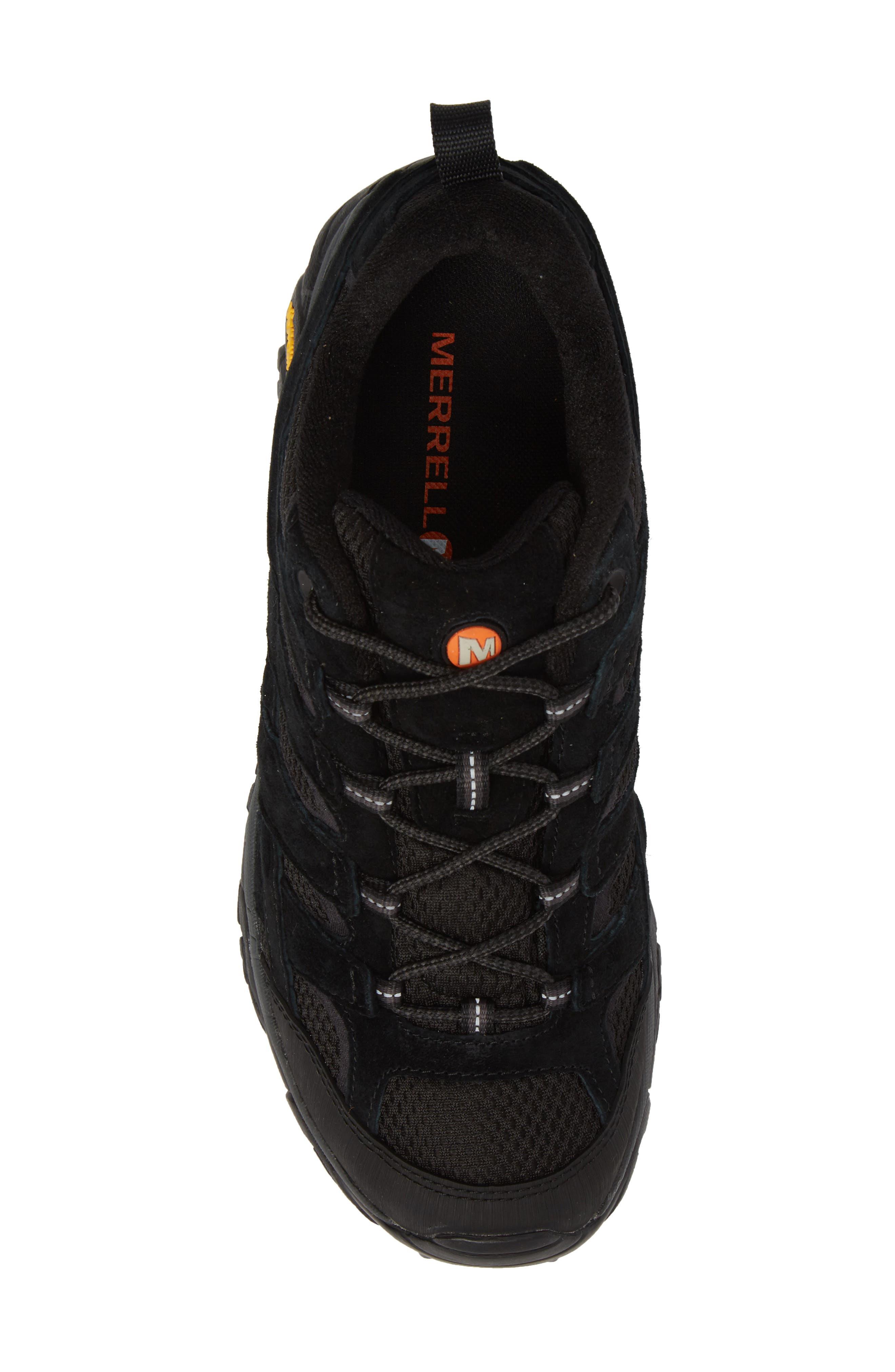 MERRELL, Moab 2 Ventilator Hiking Shoe, Alternate thumbnail 5, color, BLACK NIGHT