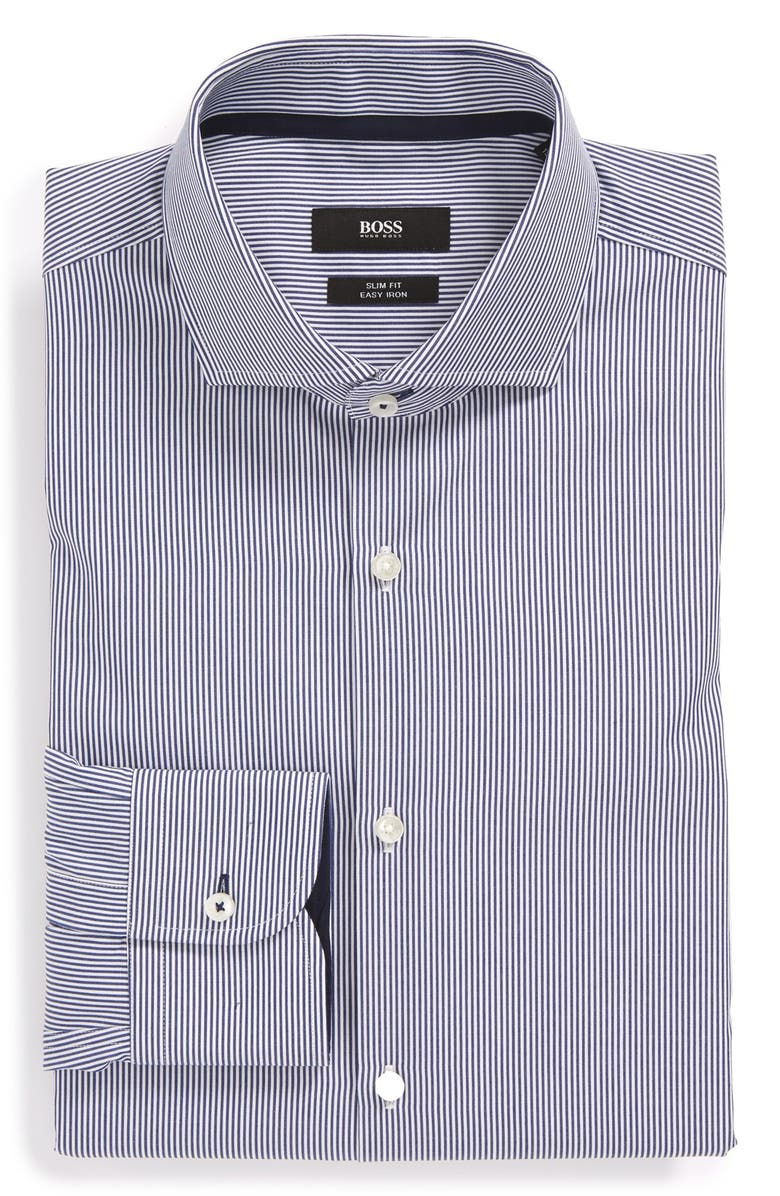 339d12ab6 BOSS HUGO BOSS 'Jery' WW Slim Fit Easy Iron Stripe Dress Shirt, Main