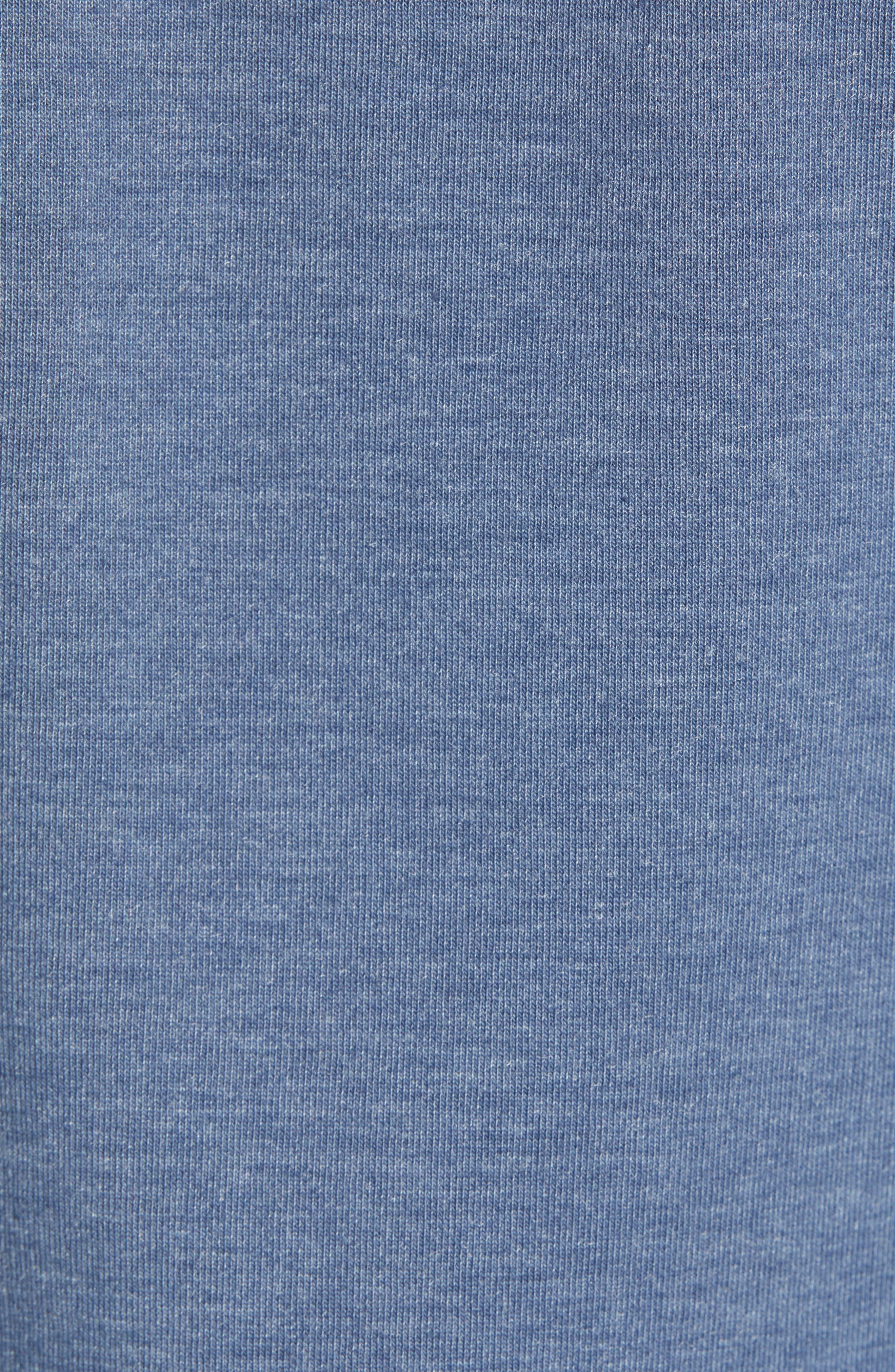 ZELLA, Zip Fleece Hoodie, Alternate thumbnail 5, color, BLUE VINTAGE MELANGE