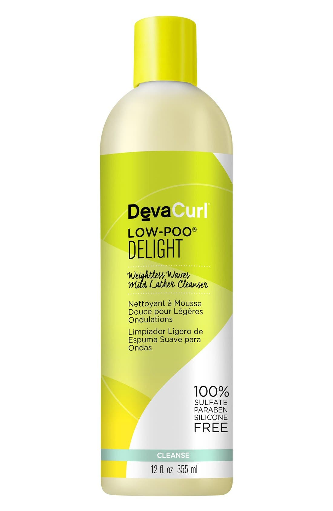 DEVACURL, Low-Poo<sup>®</sup> Delight Weightless Waves Mild Lather Cleanser, Alternate thumbnail 3, color, NO COLOR