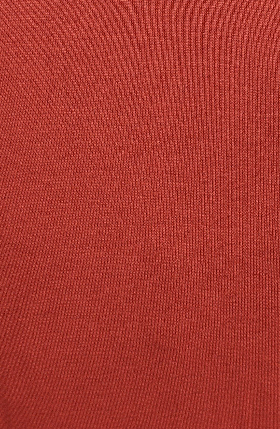 MATERNAL AMERICA, Maternity Tie Front Dress, Alternate thumbnail 3, color, RUST