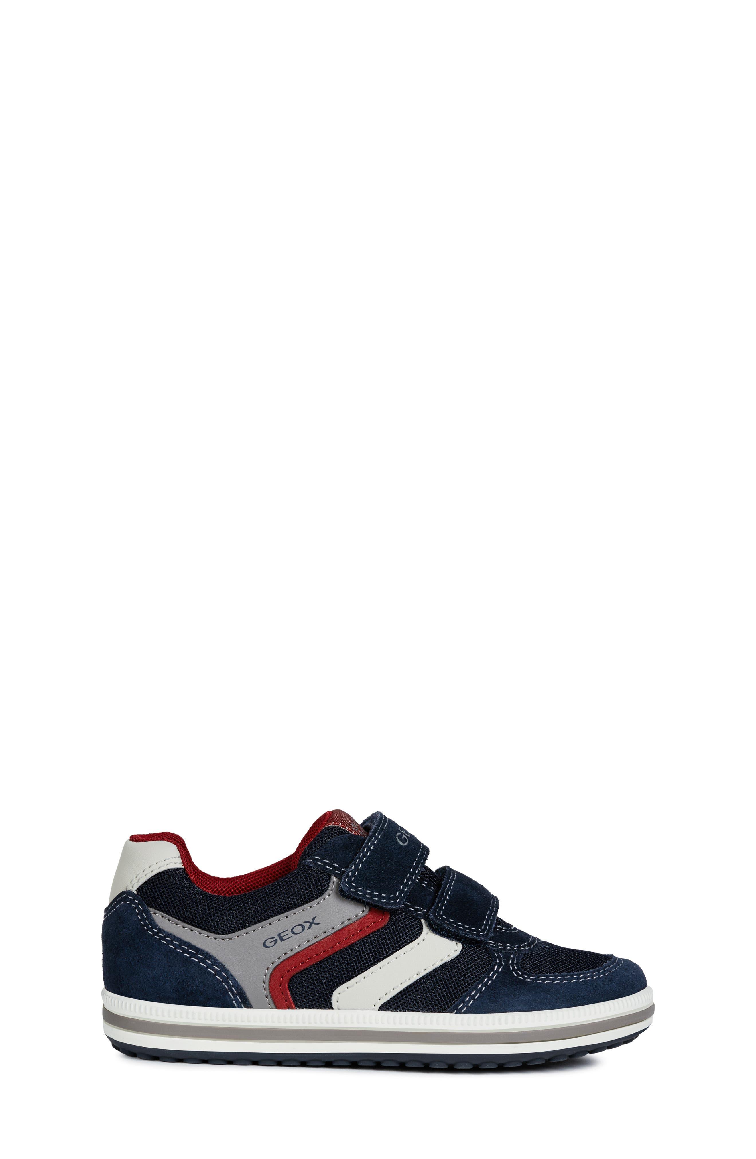 GEOX, 'Vita' Sneaker, Alternate thumbnail 3, color, NAVY/ RED
