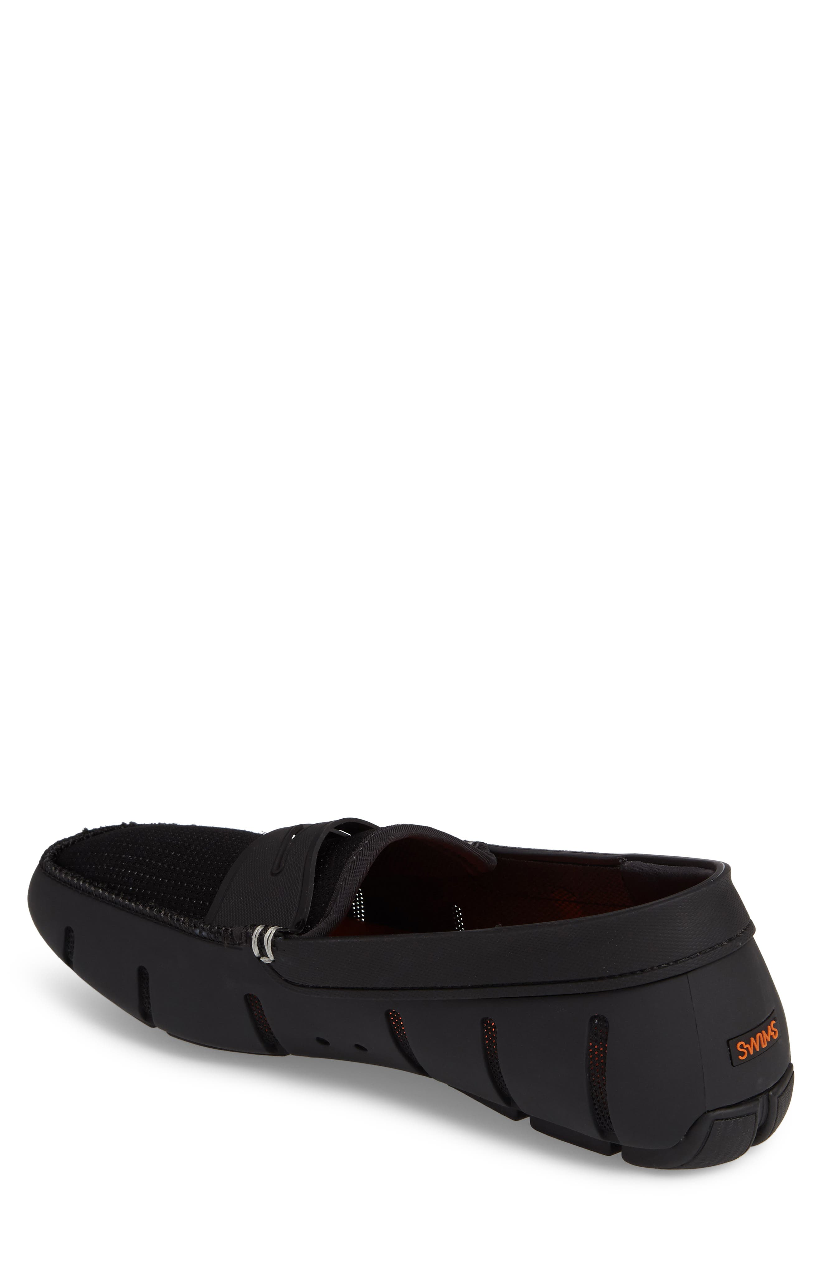 SWIMS, Penny Loafer, Alternate thumbnail 2, color, BLACK/BLACK