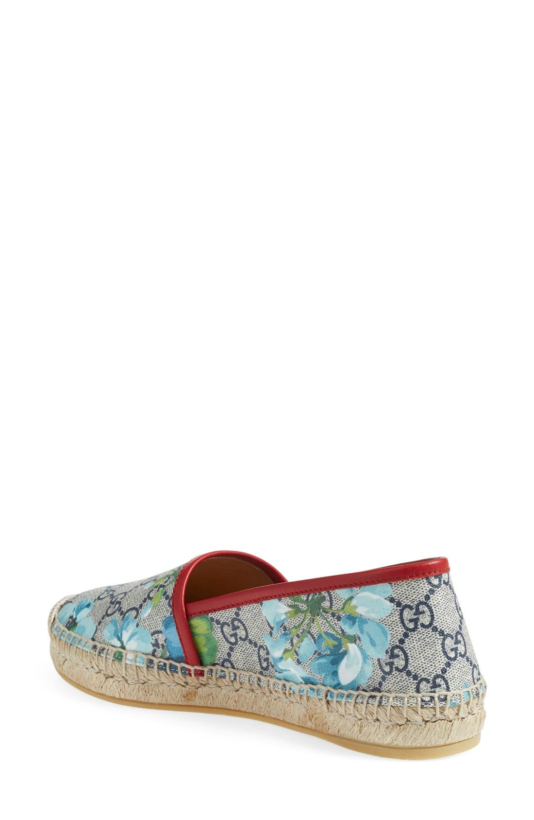 GUCCI, Espadrille Slip-On Flat, Alternate thumbnail 2, color, 600