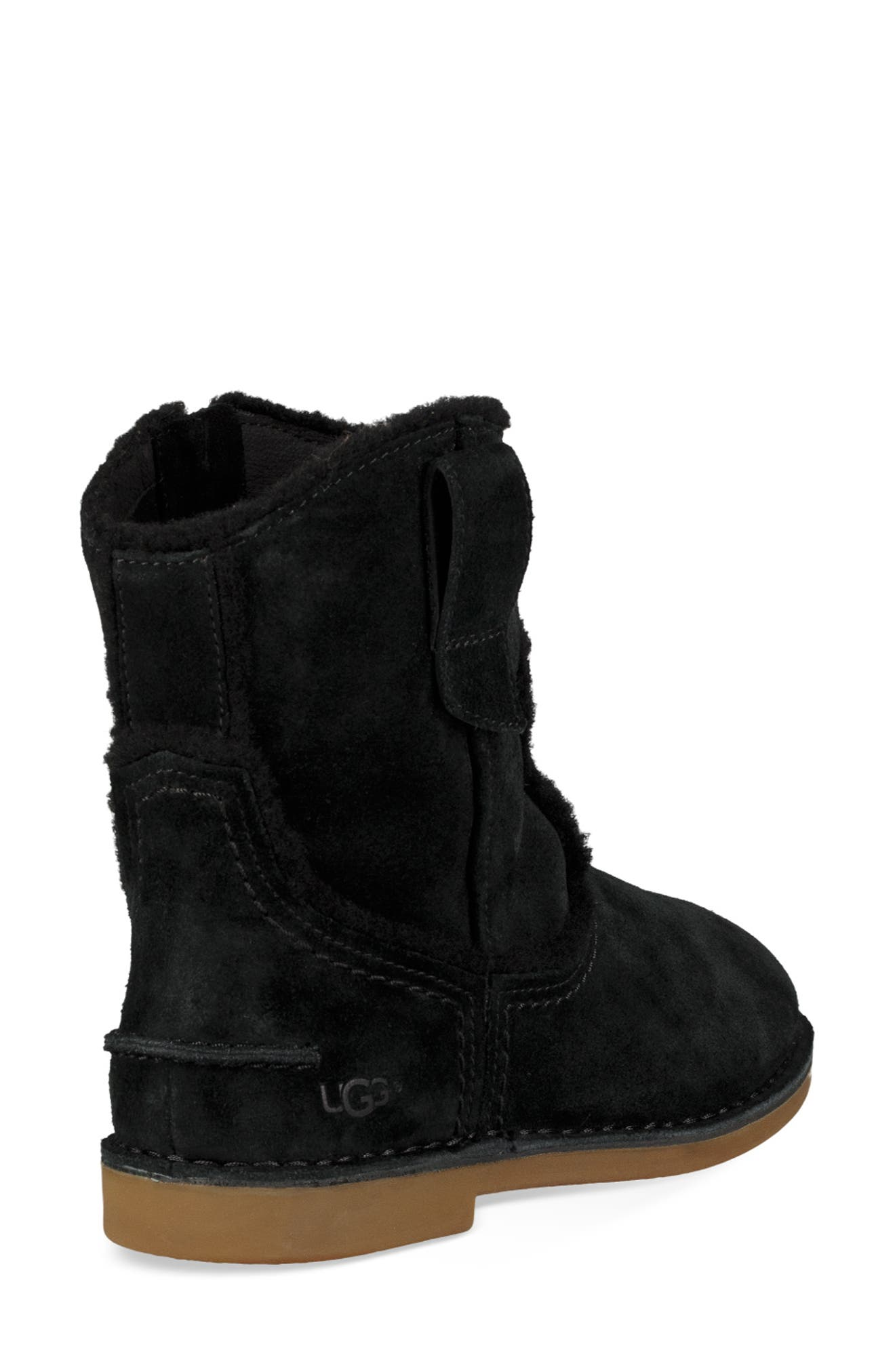 UGG<SUP>®</SUP>, Catica Boot, Alternate thumbnail 2, color, BLACK SUEDE