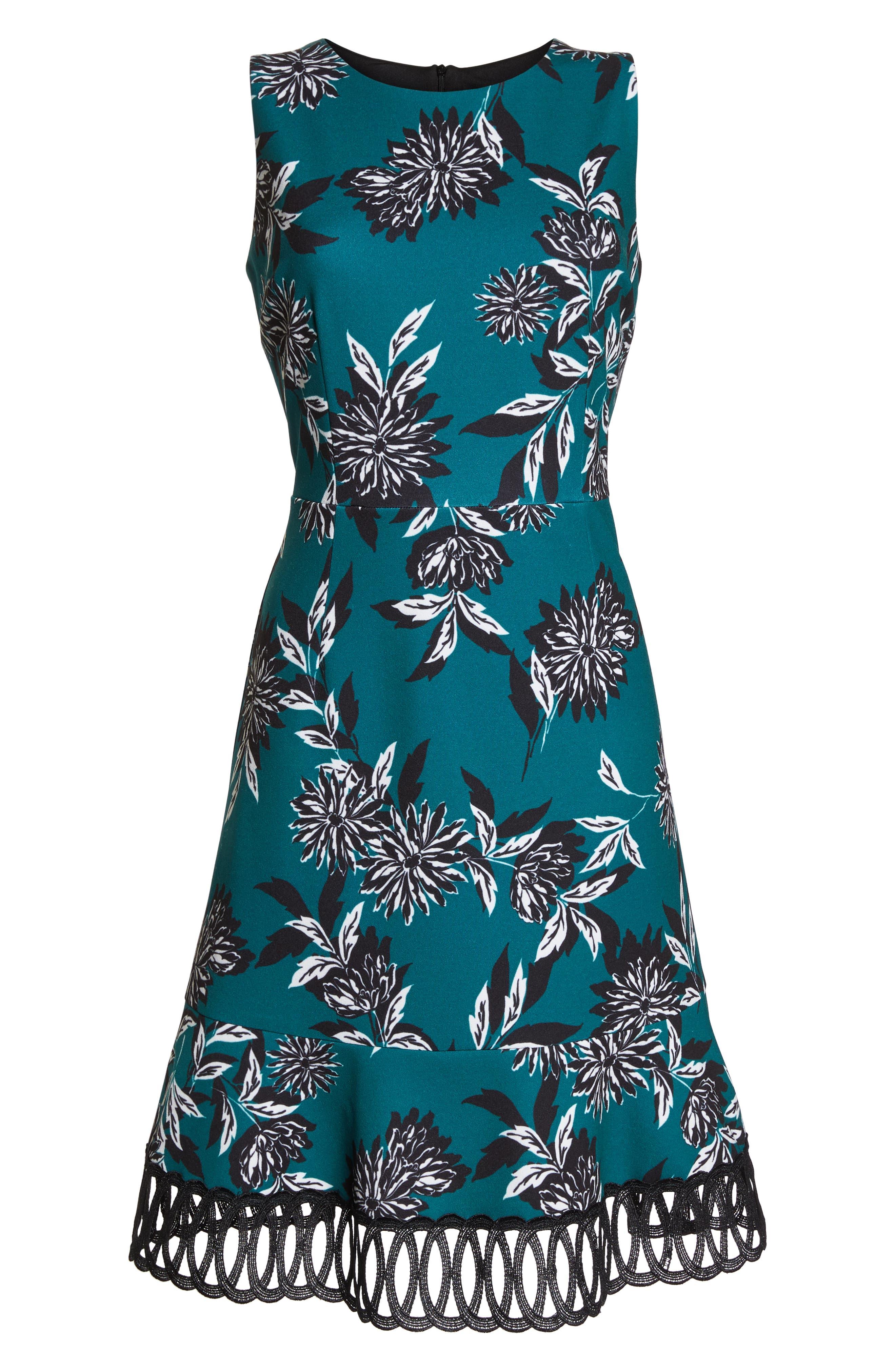 JULIA JORDAN, Crepe Scuba A-Line Dress, Alternate thumbnail 7, color, 300