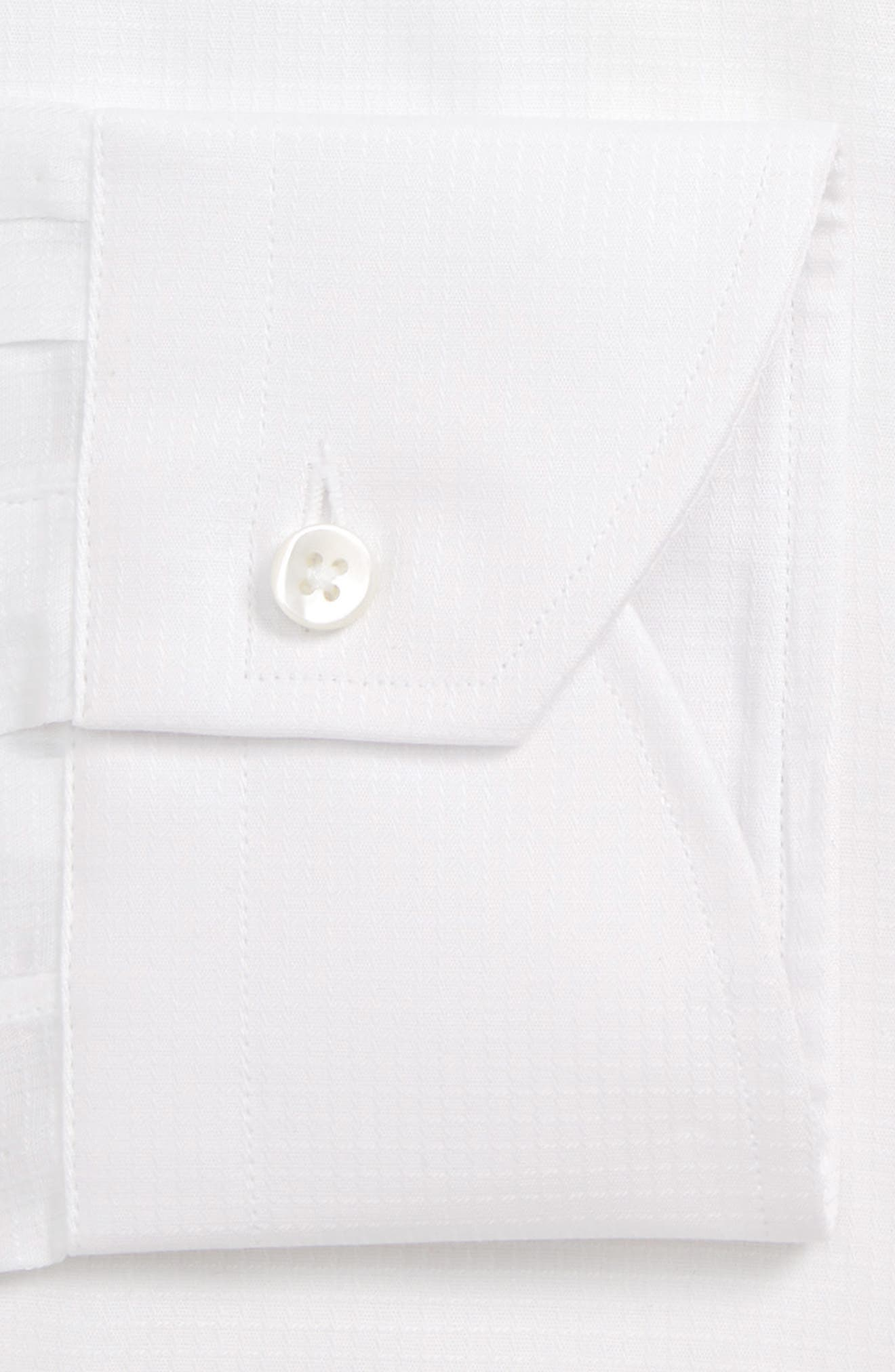 CANALI, Regular Fit Solid Dress Shirt, Alternate thumbnail 2, color, WHITE