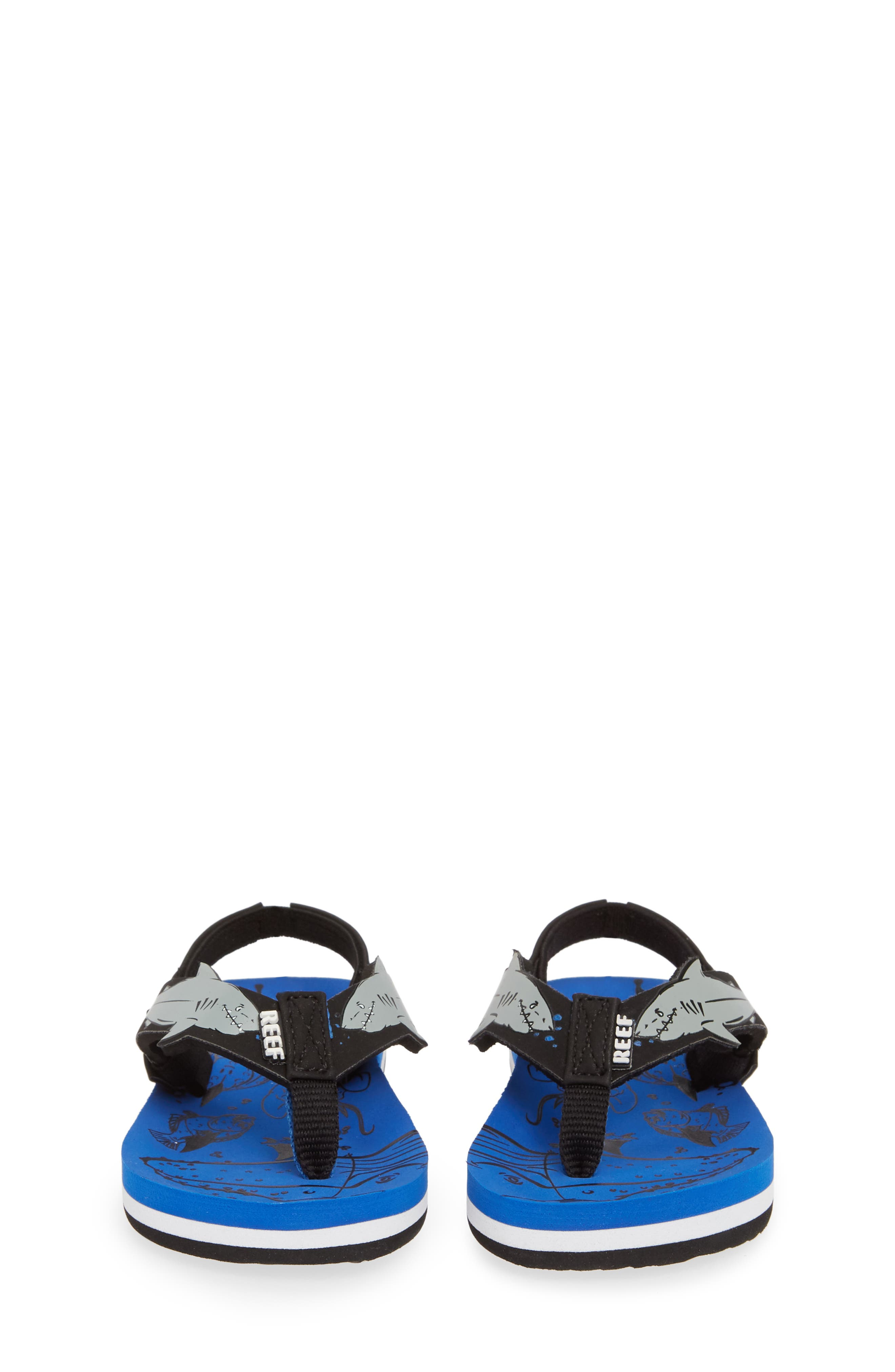 REEF, Ahi Shark Flip Flop, Alternate thumbnail 5, color, BLUE