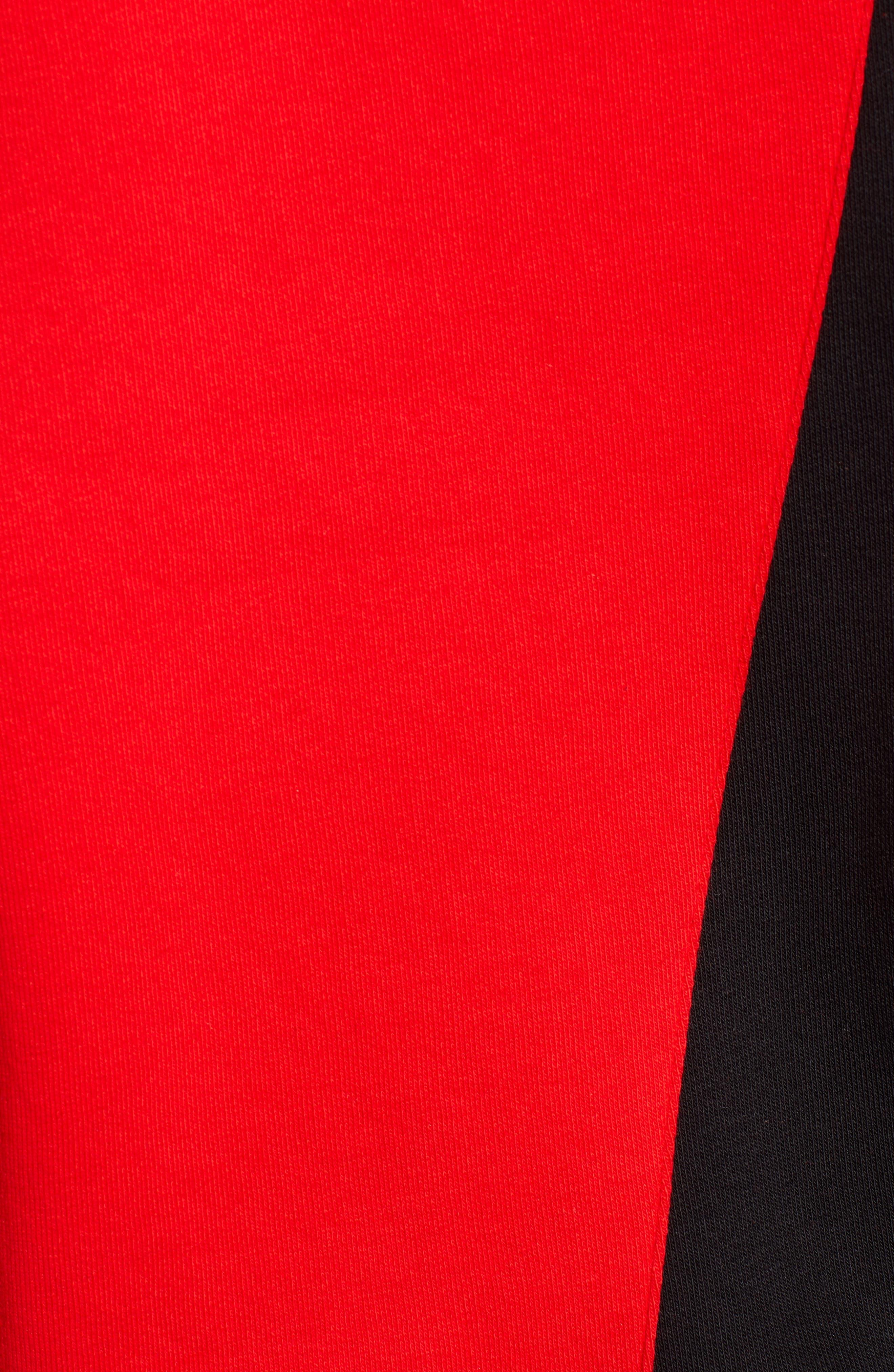 IVY PARK<SUP>®</SUP>, Spliced Stripe Hoodie, Alternate thumbnail 6, color, 600