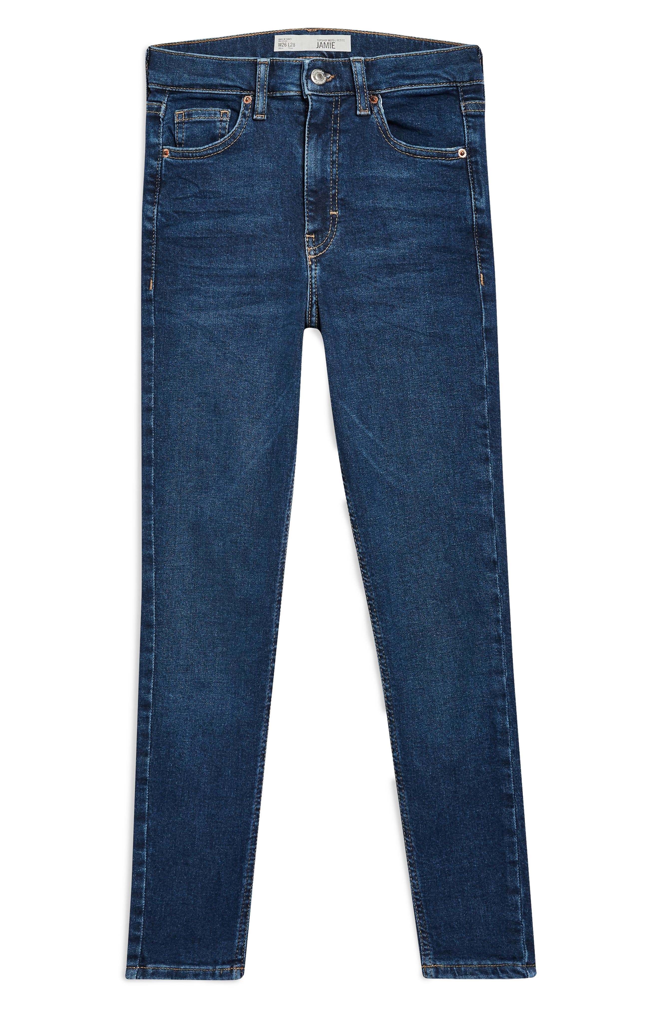 TOPSHOP, Jamie Skinny Jeans, Alternate thumbnail 5, color, INDIGO