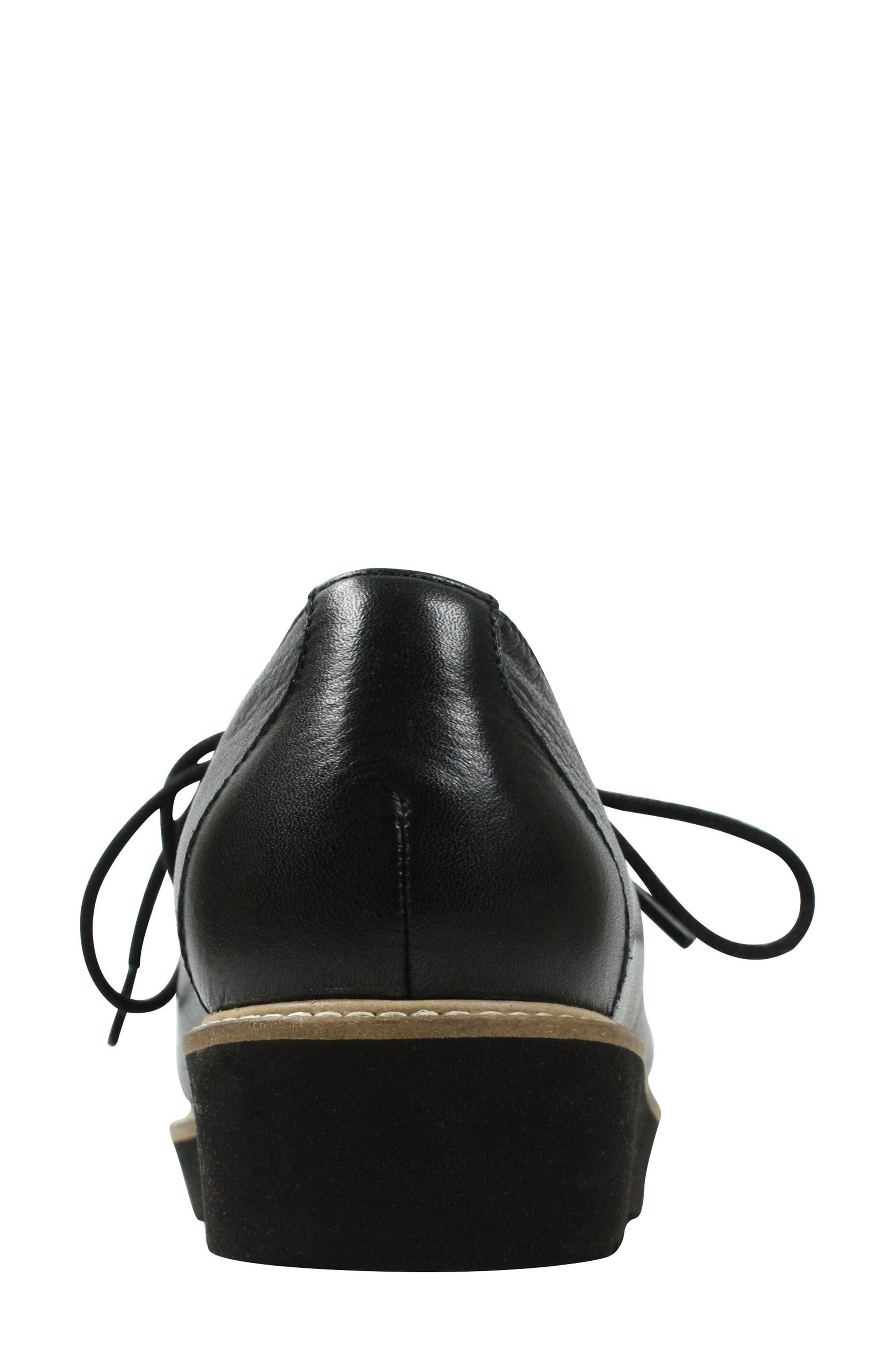 L'AMOUR DES PIEDS, Ximena Loafer, Alternate thumbnail 5, color, BLACK LEATHER
