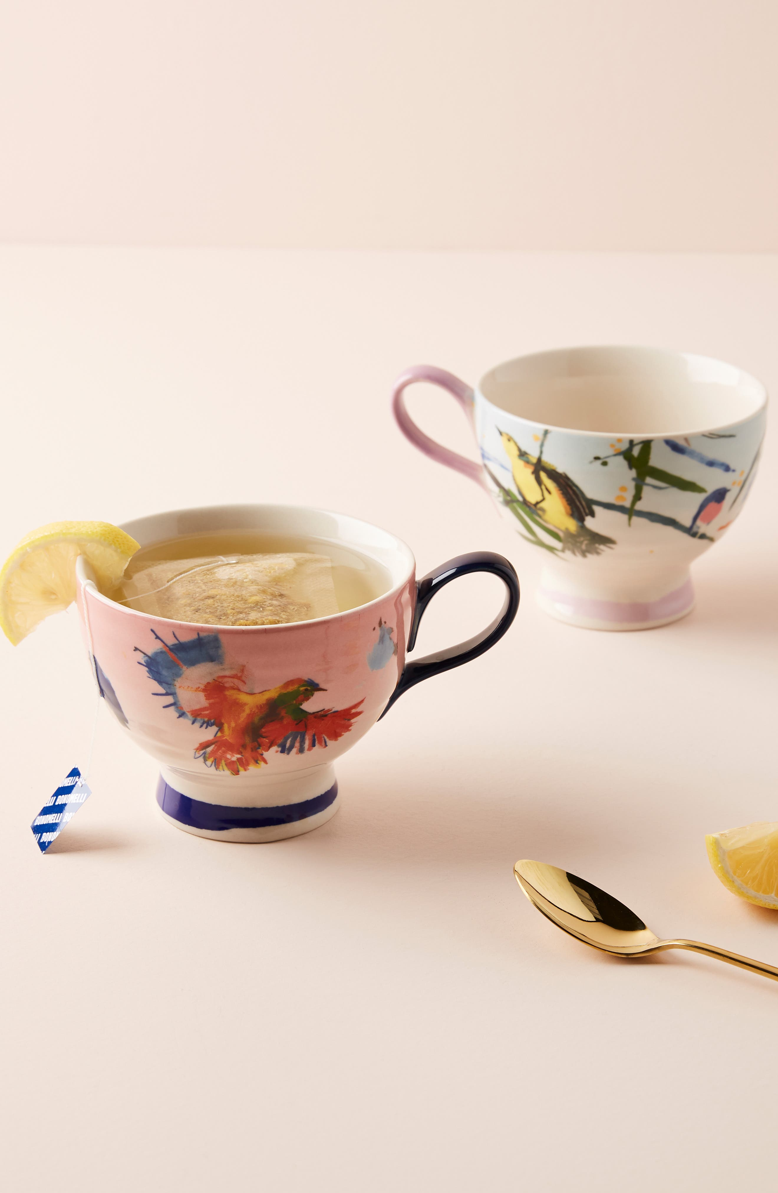 ANTHROPOLOGIE Raven Roxanne Cup, Main, color, NAVY