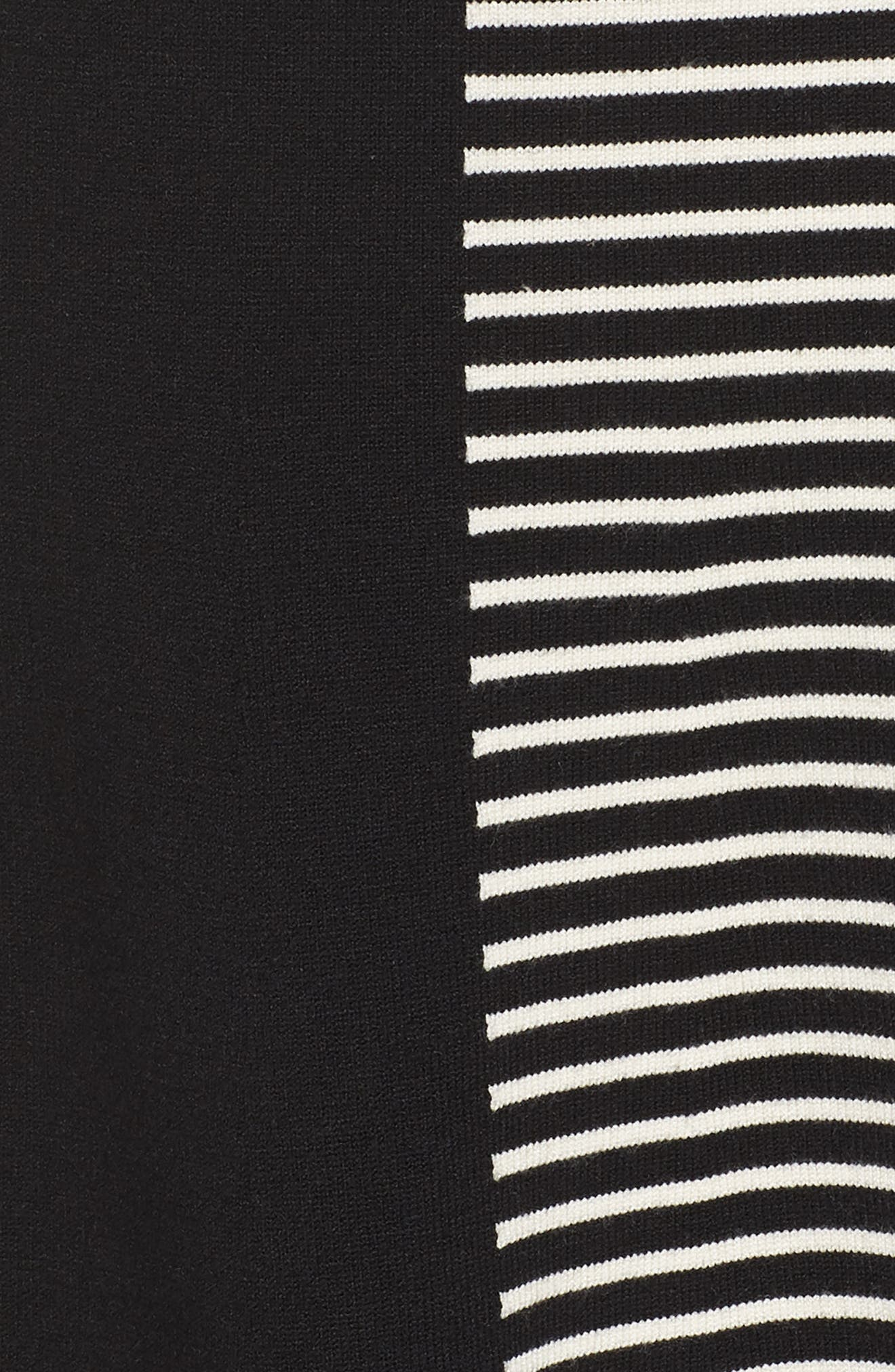 ELIZA J, Placed Stripe Sweater Dress, Alternate thumbnail 6, color, 900