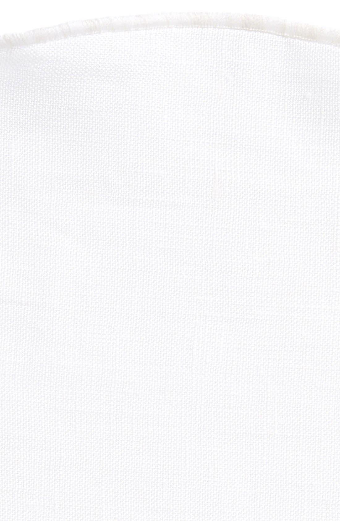ALEXANDER OLCH, Linen Pocket Round, Alternate thumbnail 3, color, 100