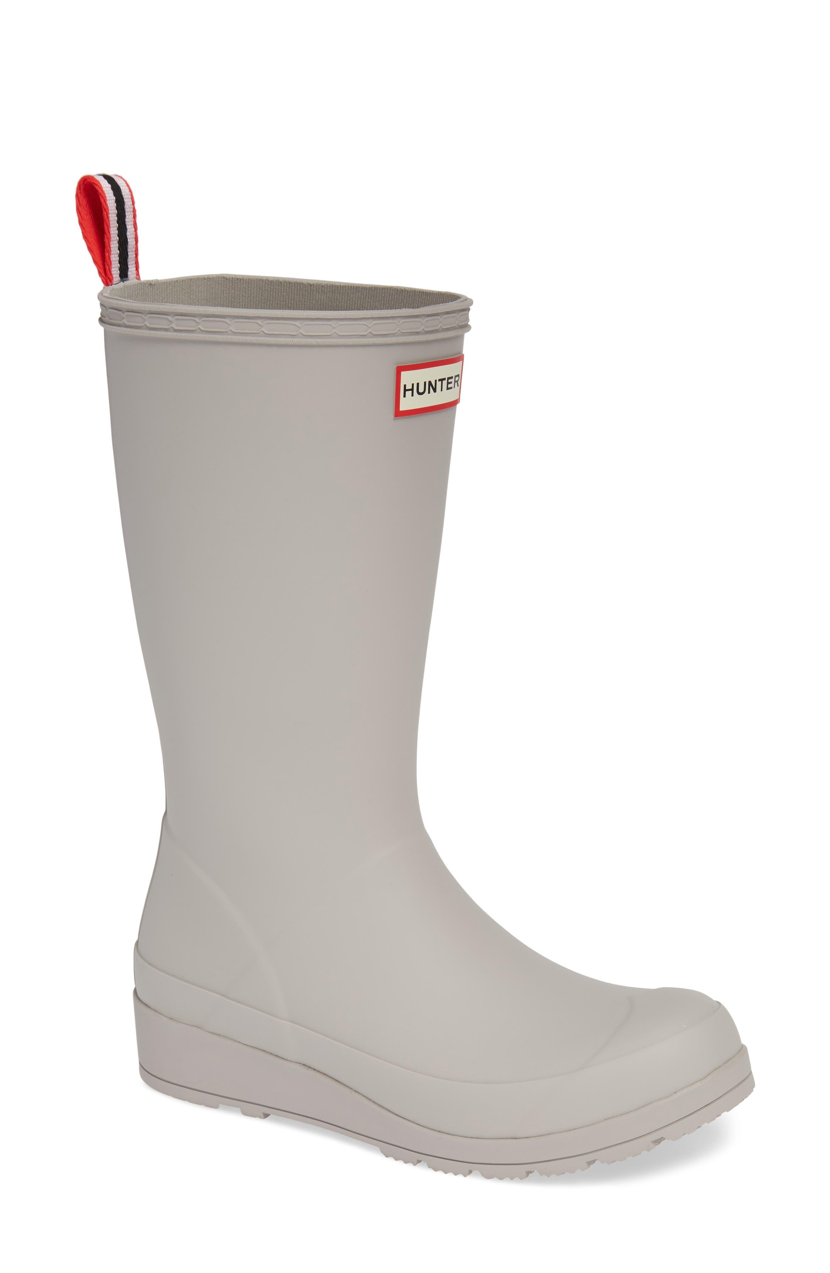 HUNTER Original Play Tall Waterproof Rain Boot, Main, color, ZINC