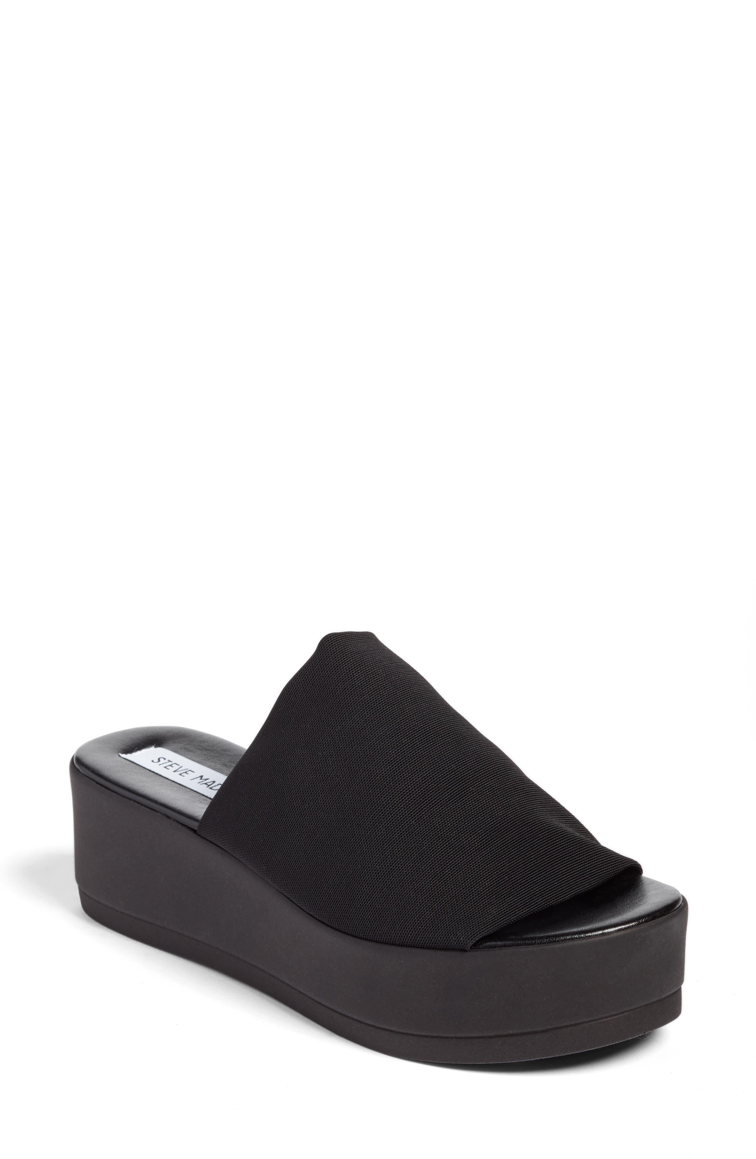 STEVE MADDEN, Slinky Platform Sandal, Main thumbnail 1, color, 001