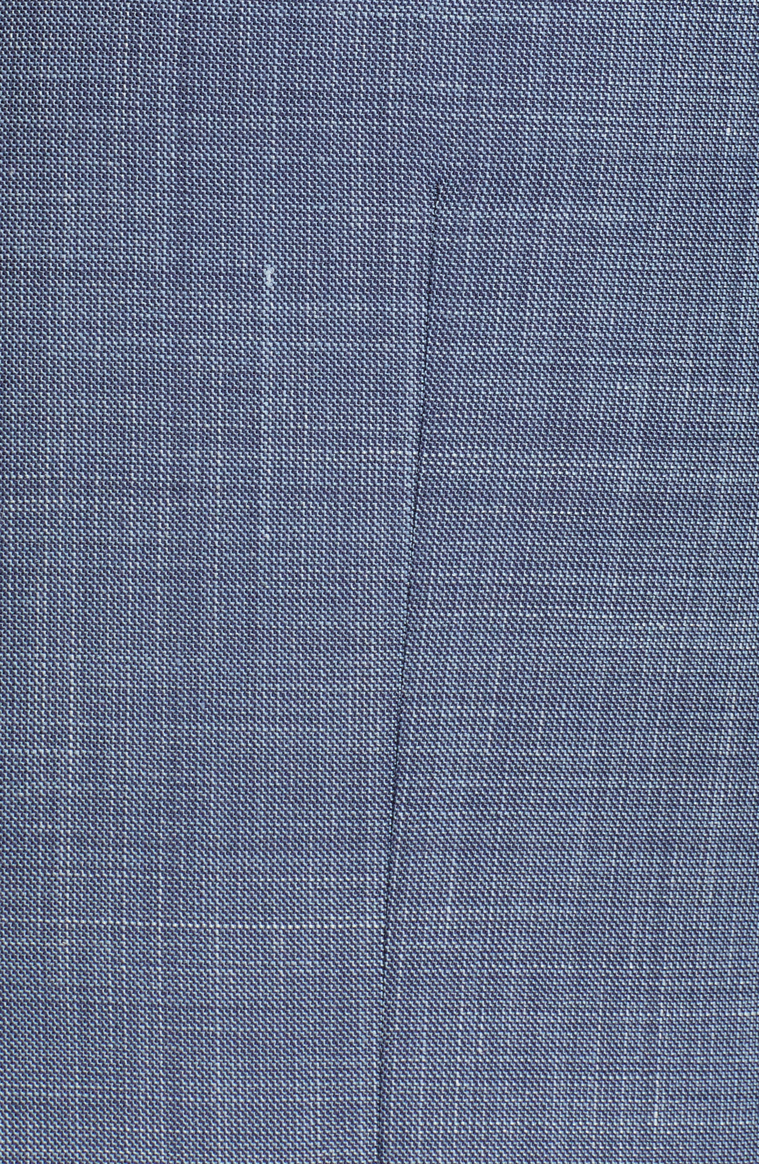 ERMENEGILDO ZEGNA, Trofeo Classic Fit Solid Wool Blend Suit, Alternate thumbnail 7, color, BLUE