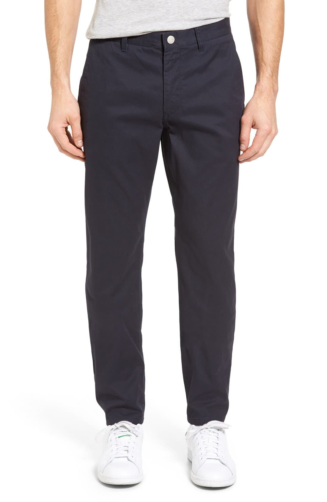 BONOBOS, Straight Fit Washed Chinos, Main thumbnail 1, color, JET BLUE