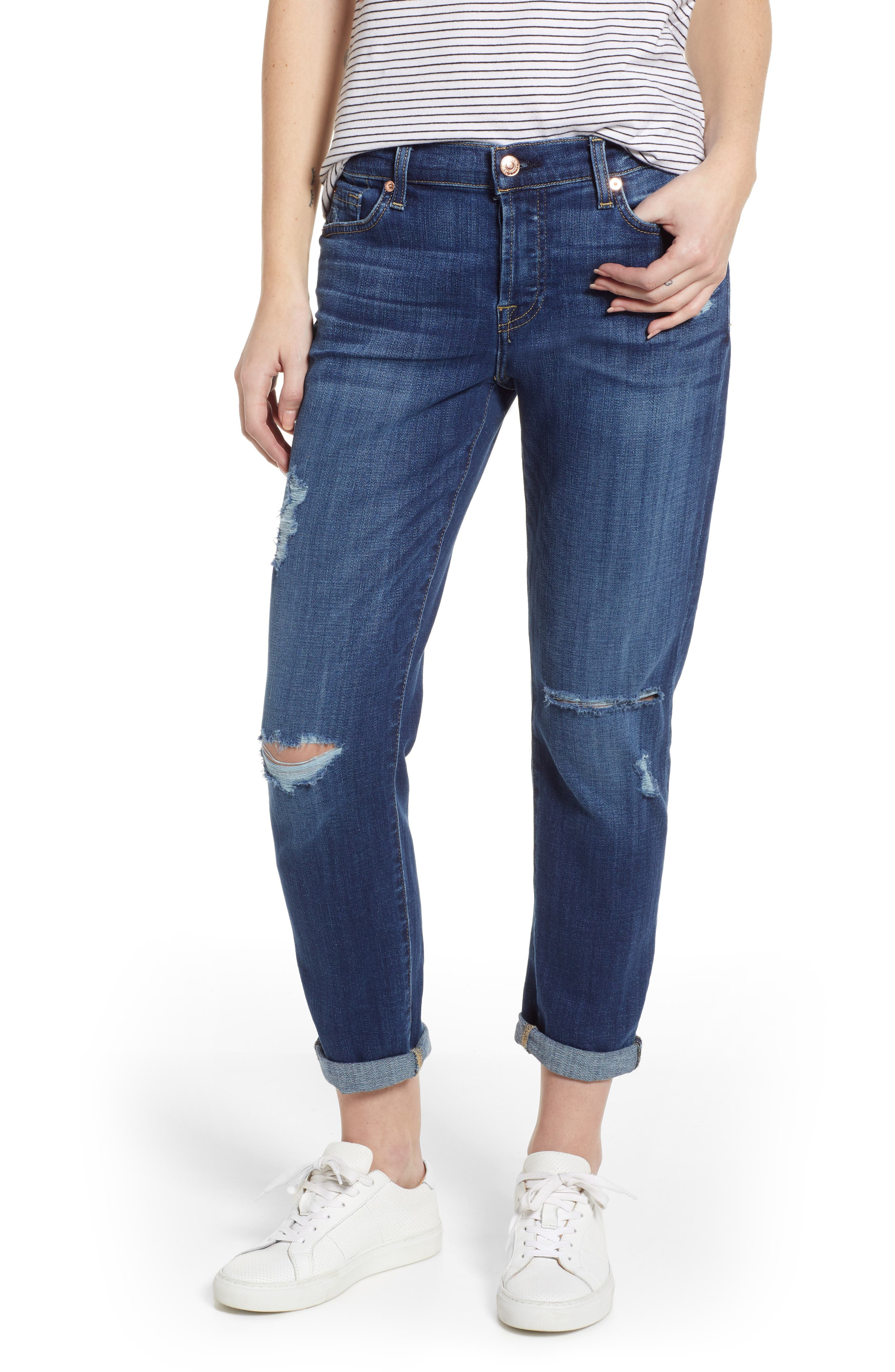 7 FOR ALL MANKIND<SUP>®</SUP>, Josefina Boyfriend Jeans, Main thumbnail 1, color, BROKEN TWILL VANITY W/ DESTROY