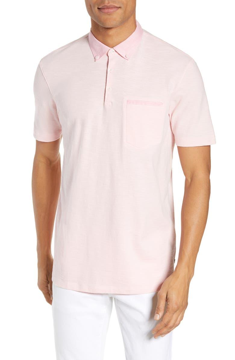 Good Man Brand T-shirts SLUB JERSEY COTTON POLO SHIRT