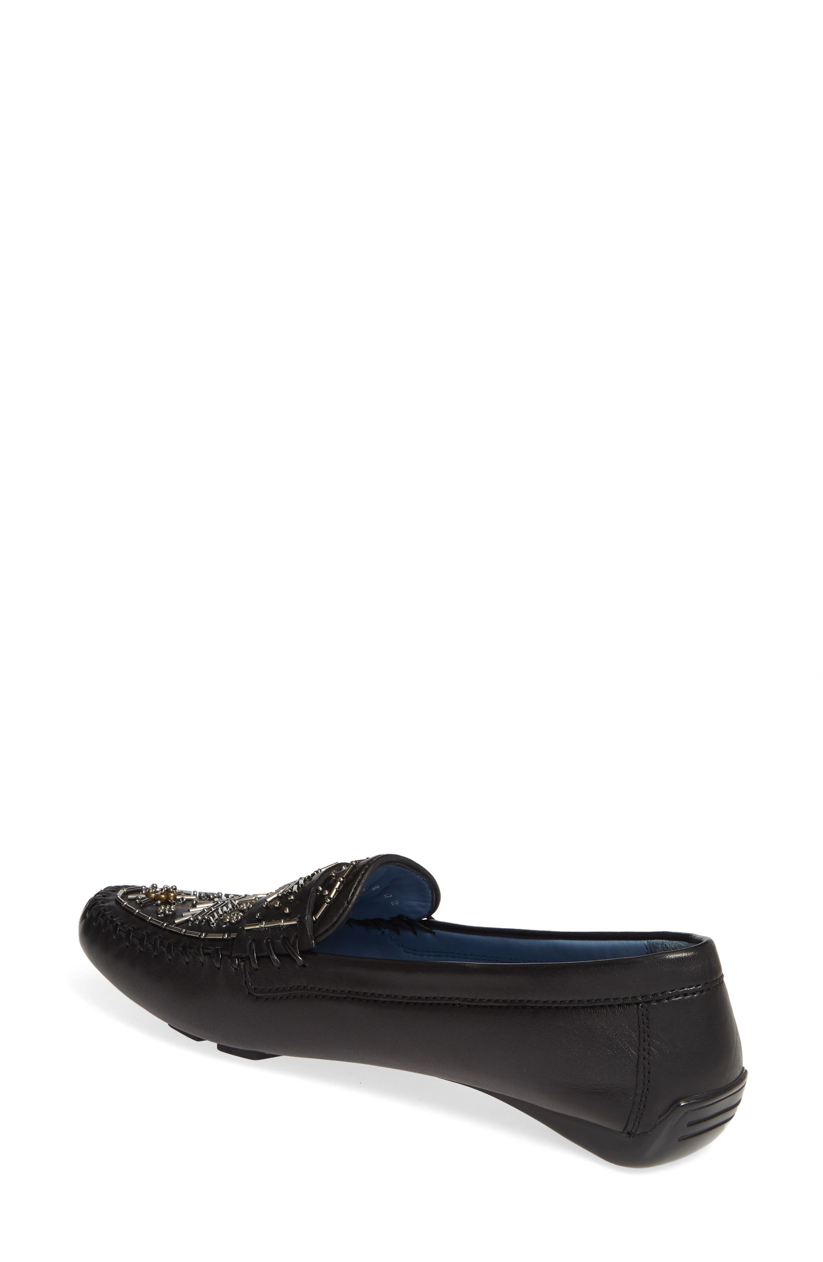 ROBERT ZUR, Majorca Embellished Loafer, Alternate thumbnail 2, color, BLACK TGLOVE
