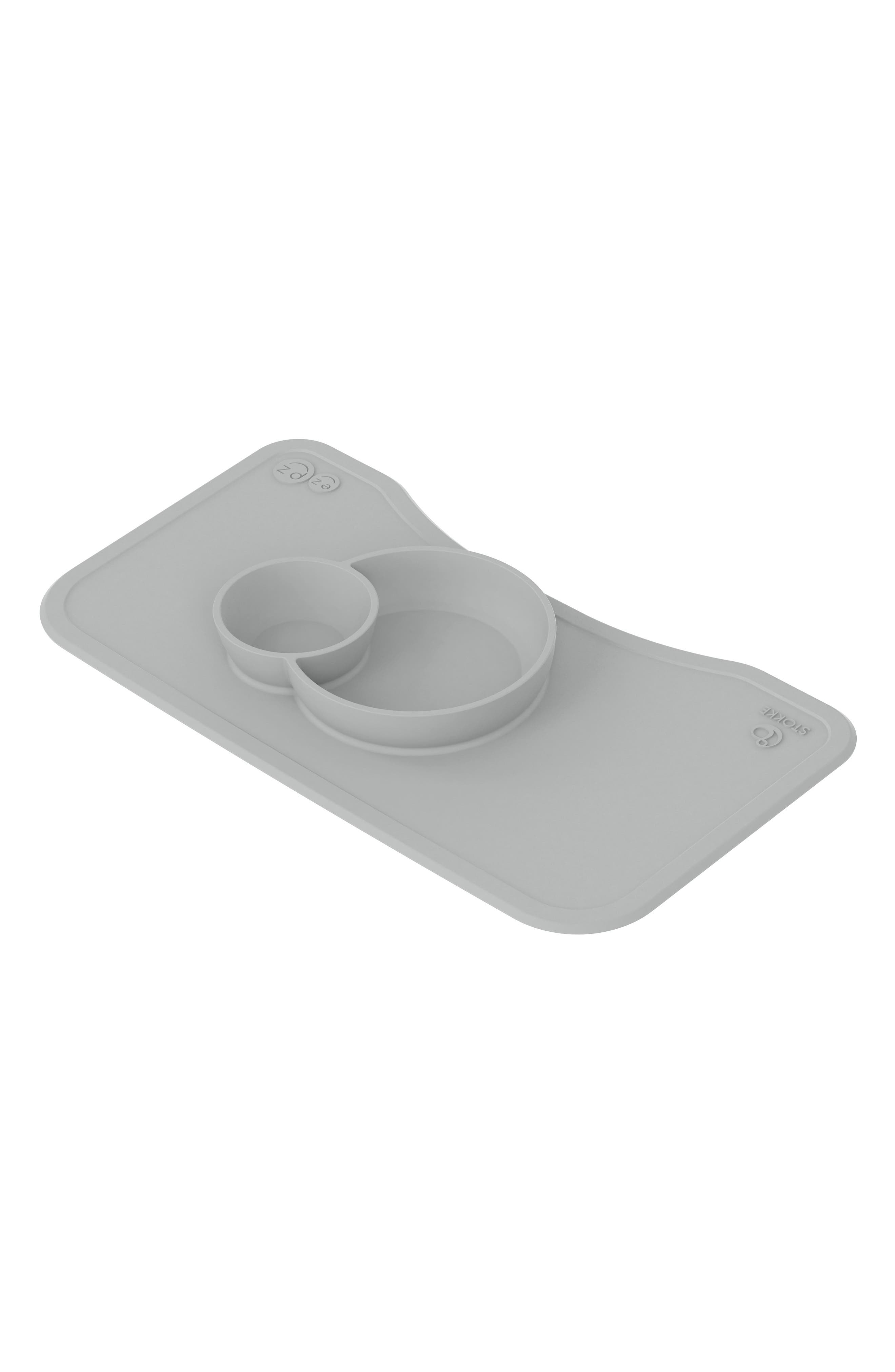 STOKKE, x ezpz Silicone Placemat for Steps<sup>™</sup> High Chair, Alternate thumbnail 2, color, GREY