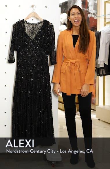 Beaded Lace Evening Dress with Bolero, sales video thumbnail